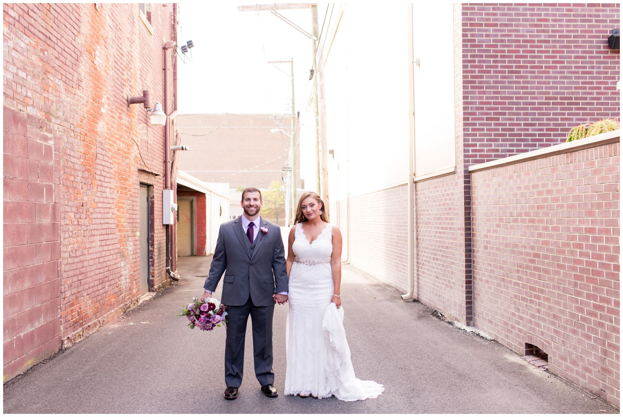 bride and groom Wabash wedding photos at Charley Creek Inn