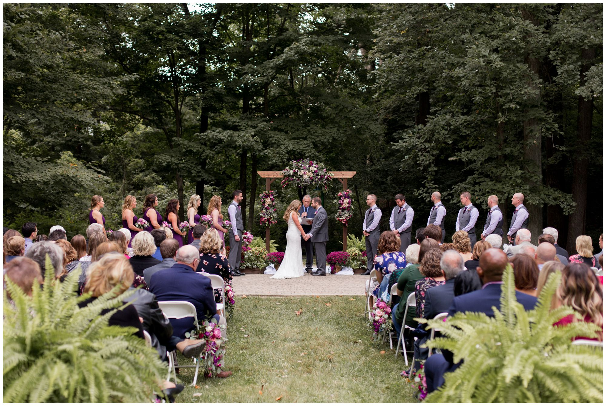Wabash Indiana wedding ceremony at Charley Creek Gardens