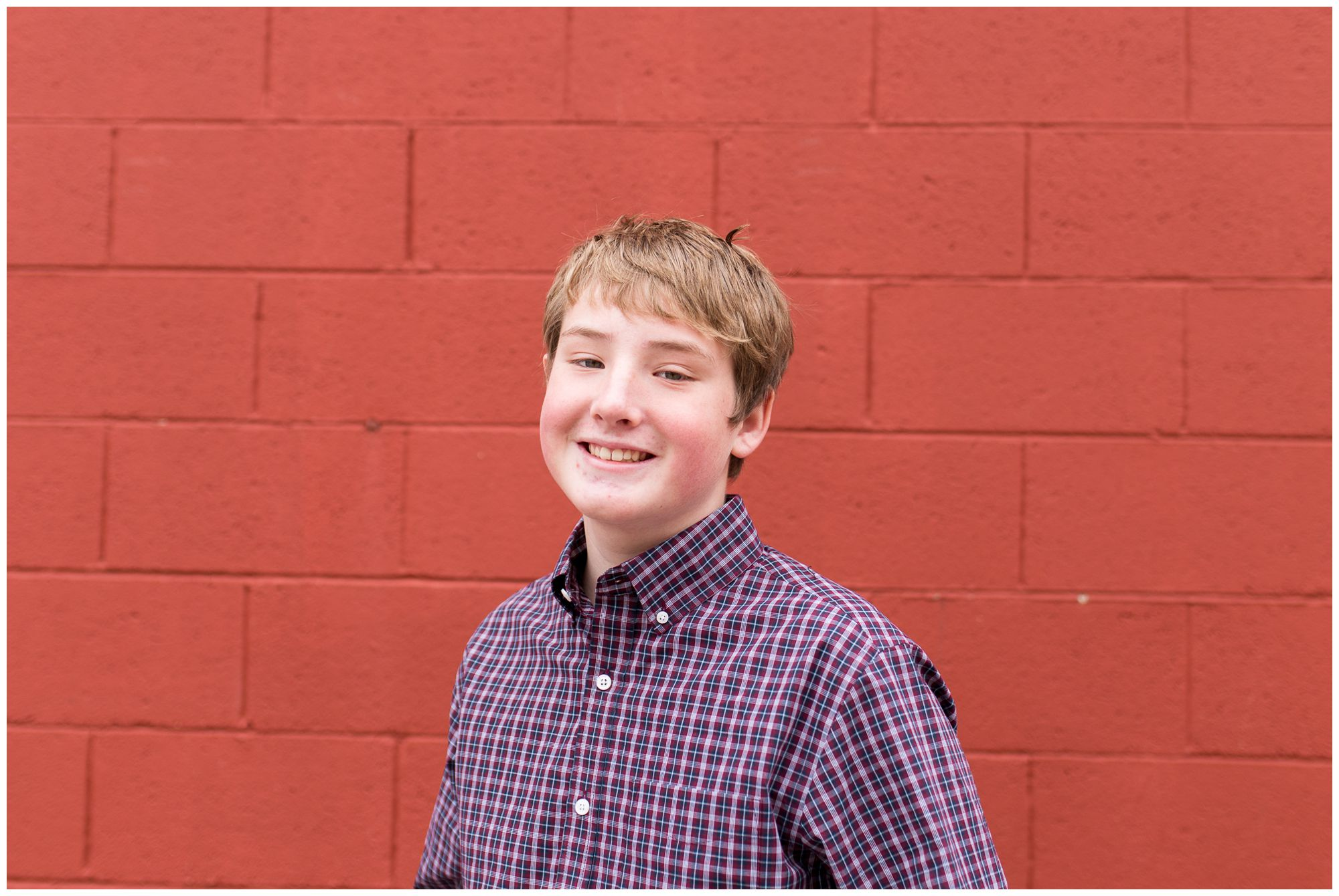 teenage boy downtown Zionsville family photographer