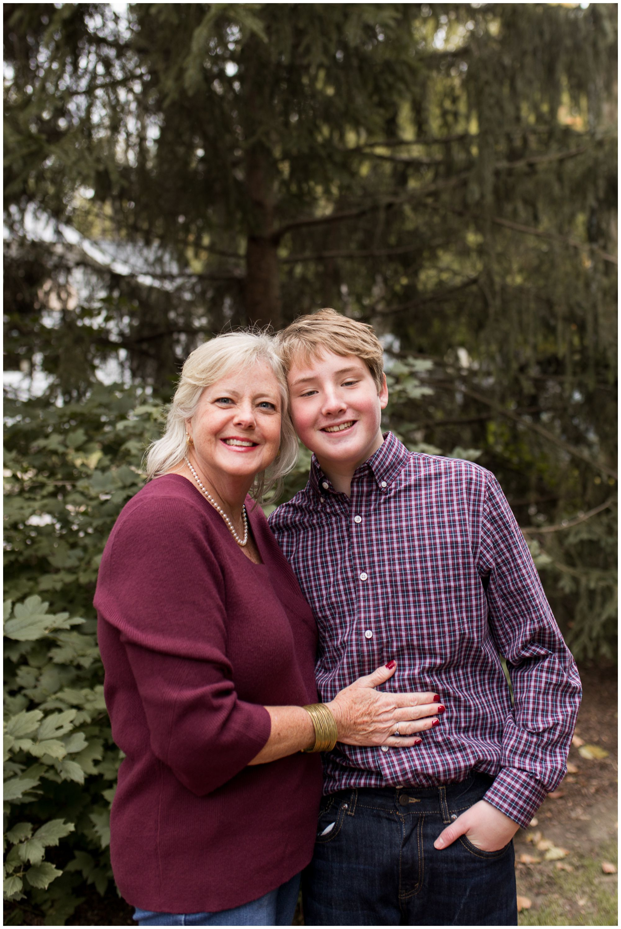 mother and son during downtown Zionsville family session