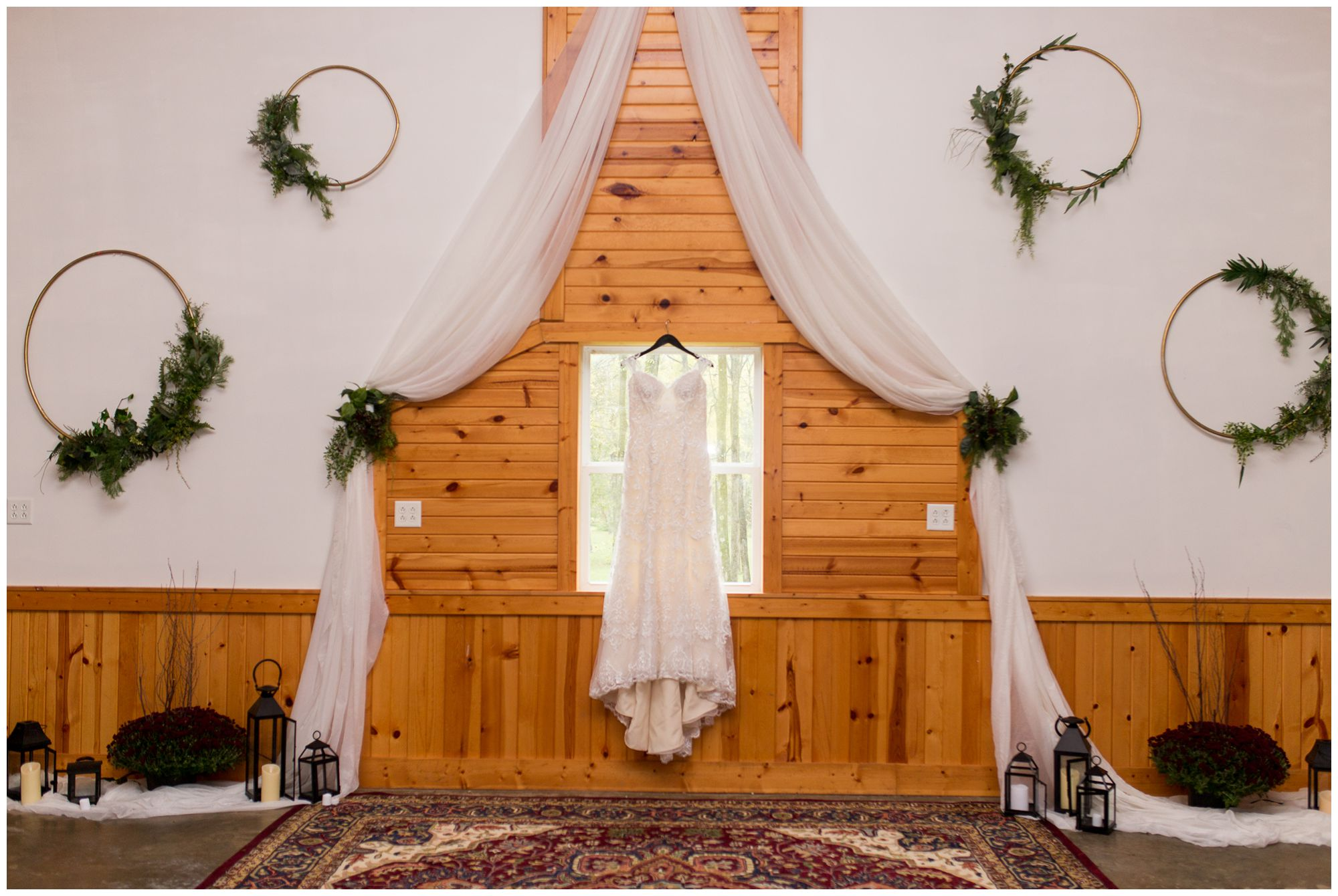 bride's dress at Western Howard Conservation Club in Peru Indiana from Ellen's Bridal