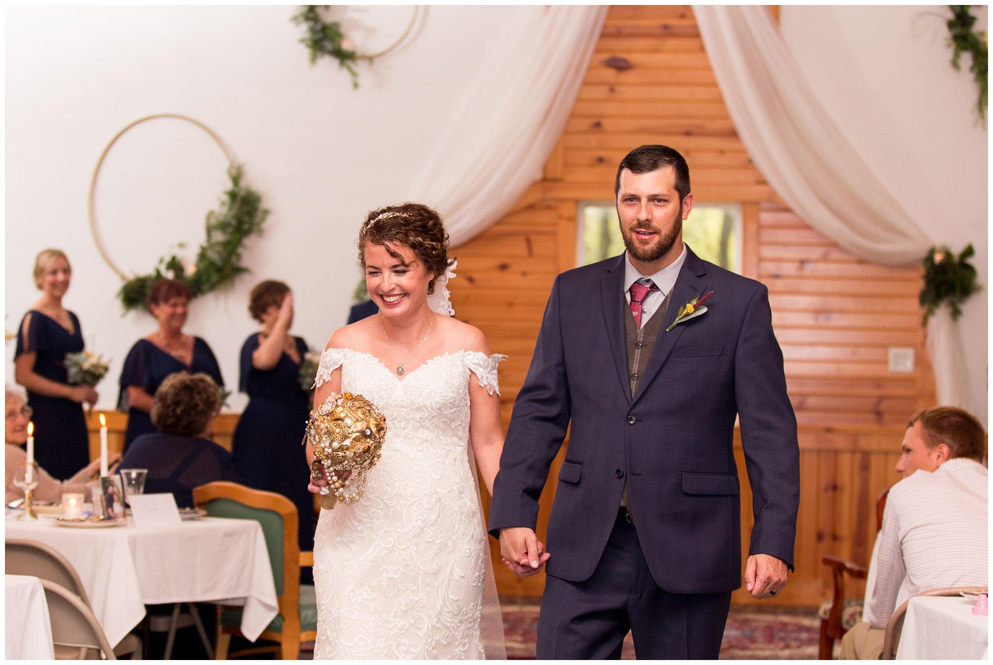wedding ceremony at Western Howard Conservation Club in Peru Indiana