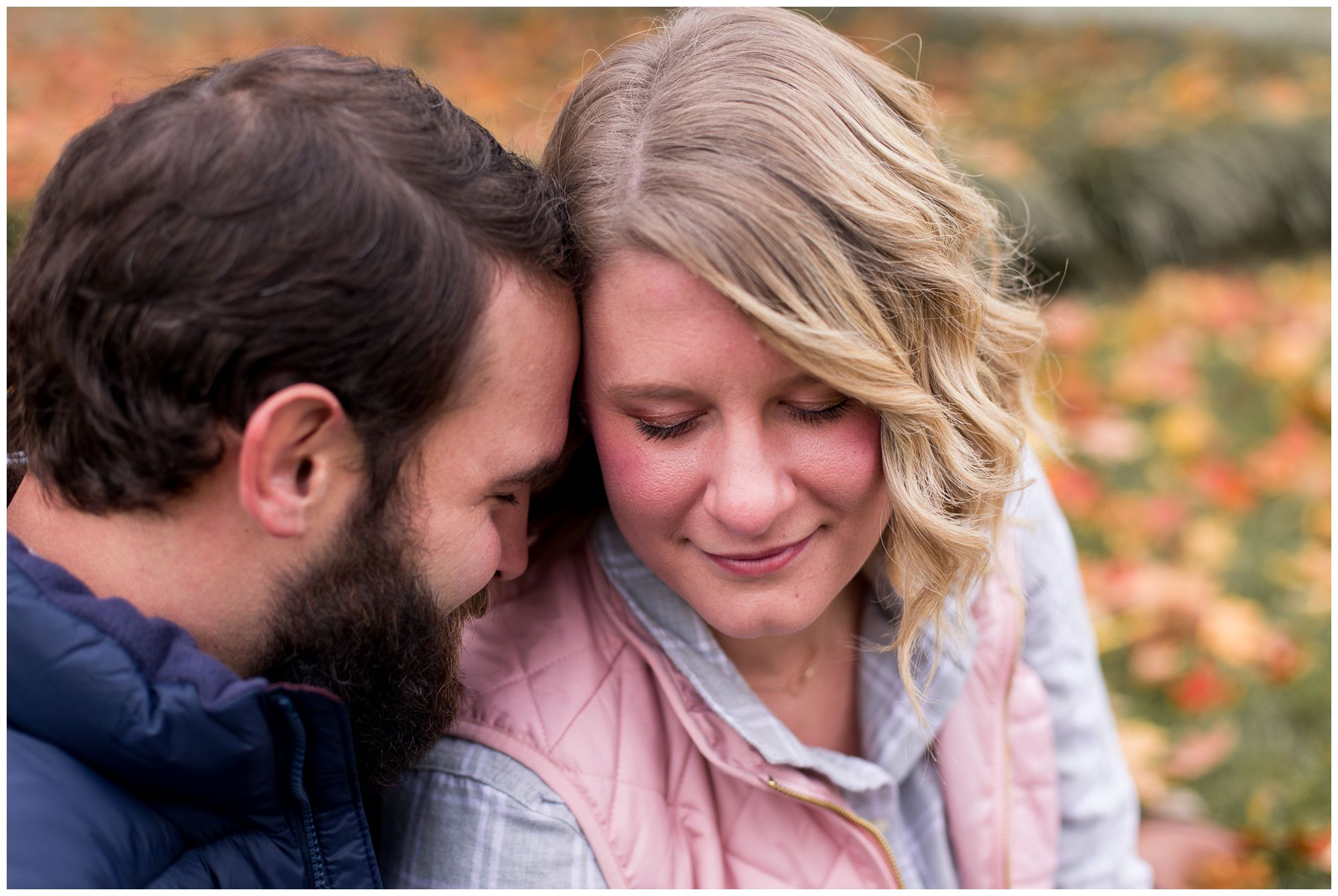 fall engagement session at Headwaters Park in downtown Fort Wayne