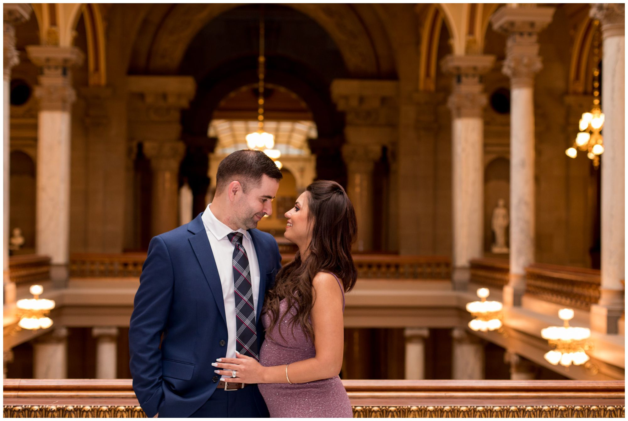 bride and groom portraits at