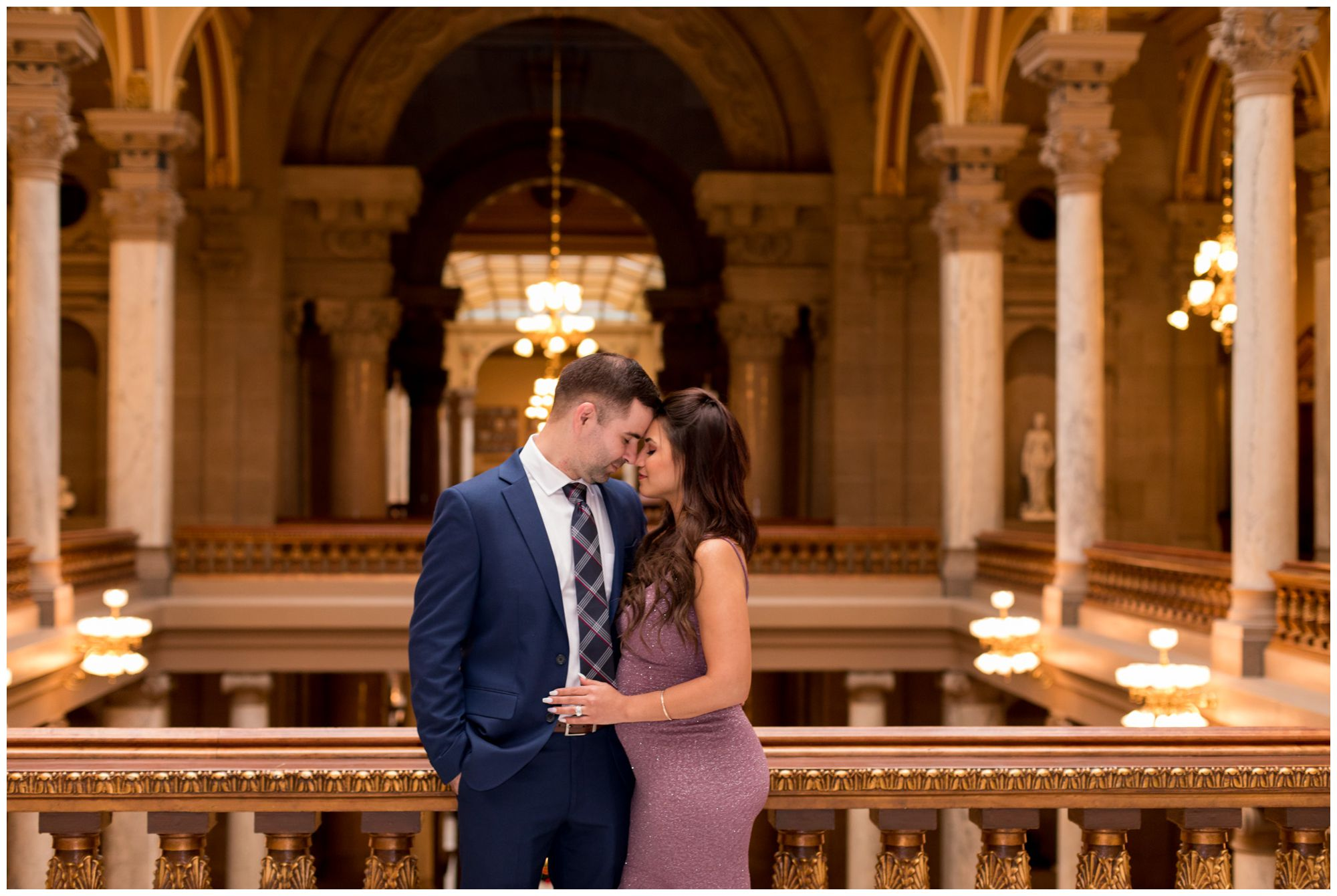downtown Indy elopement at Indiana Statehouse