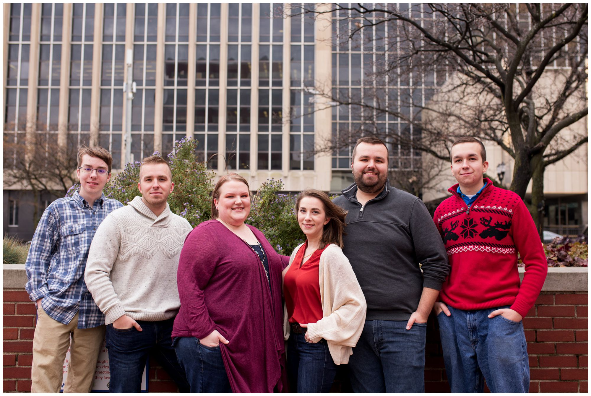 urban downtown Indianapolis family session with older siblings