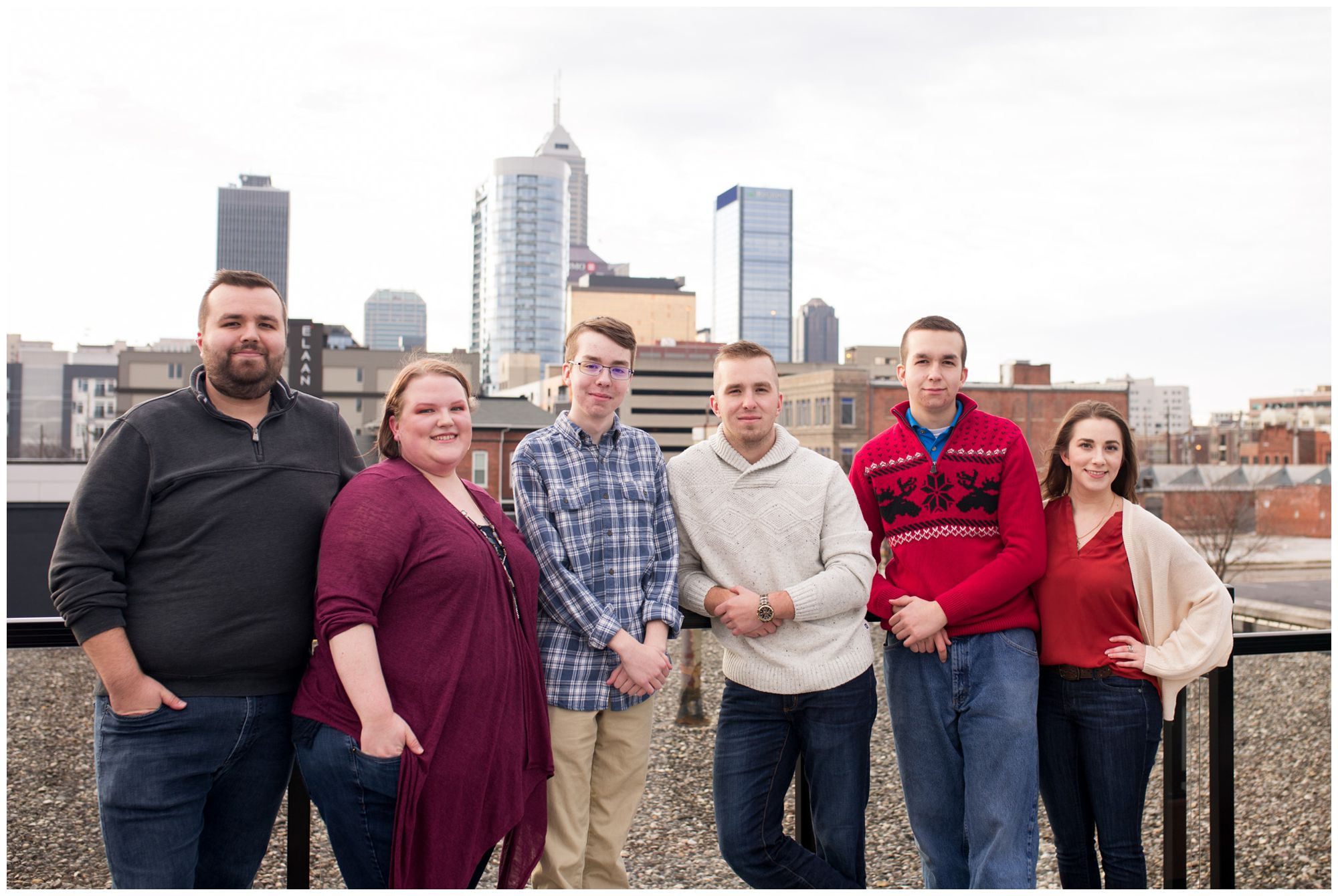 sibling family session in downtown Indianapolis Indiana