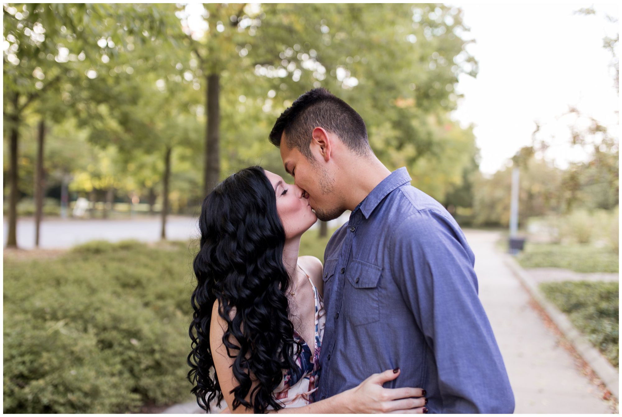 Fort Wayne Headwaters Park engagement session