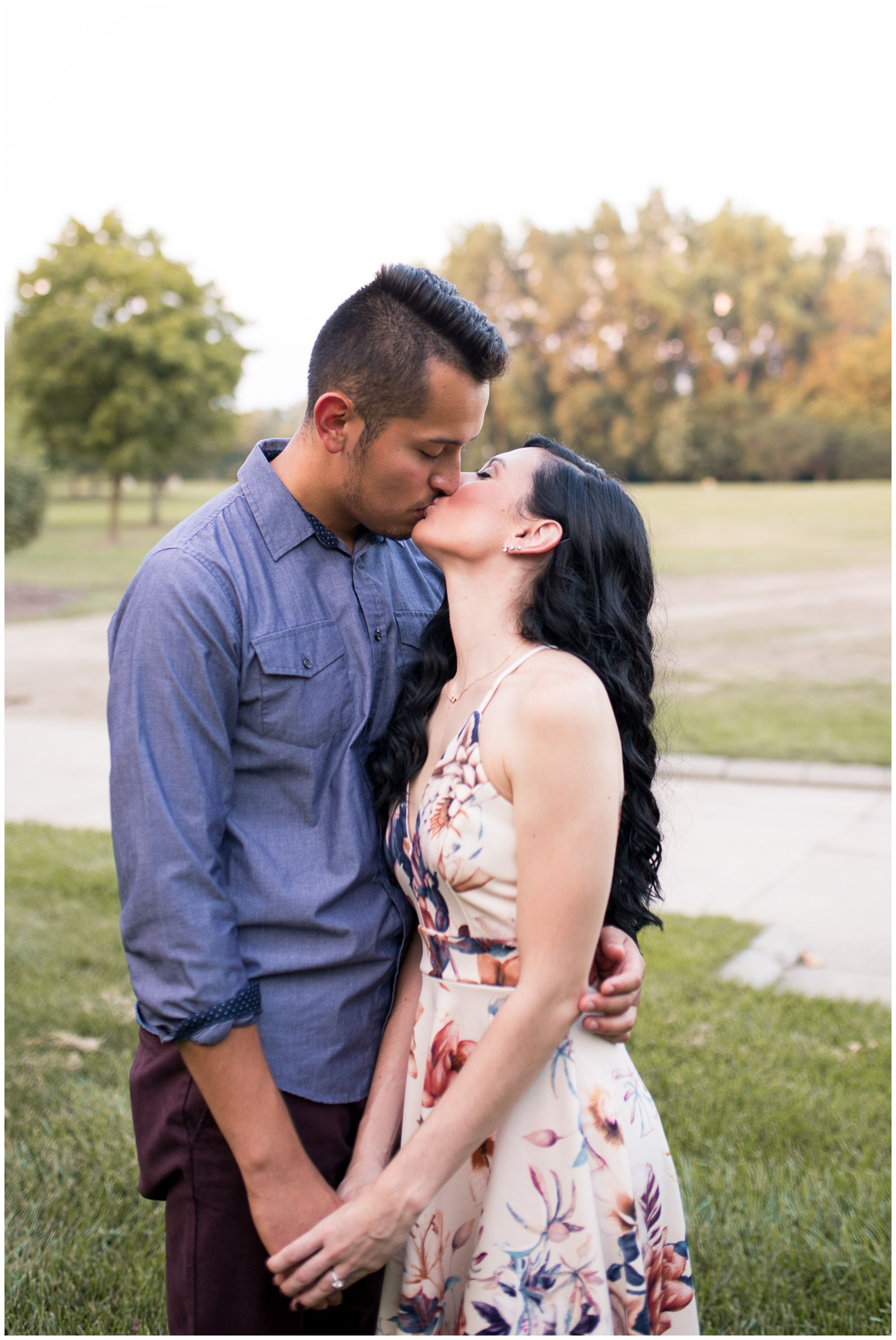 engagement session at Headwaters Park in Fort Wayne