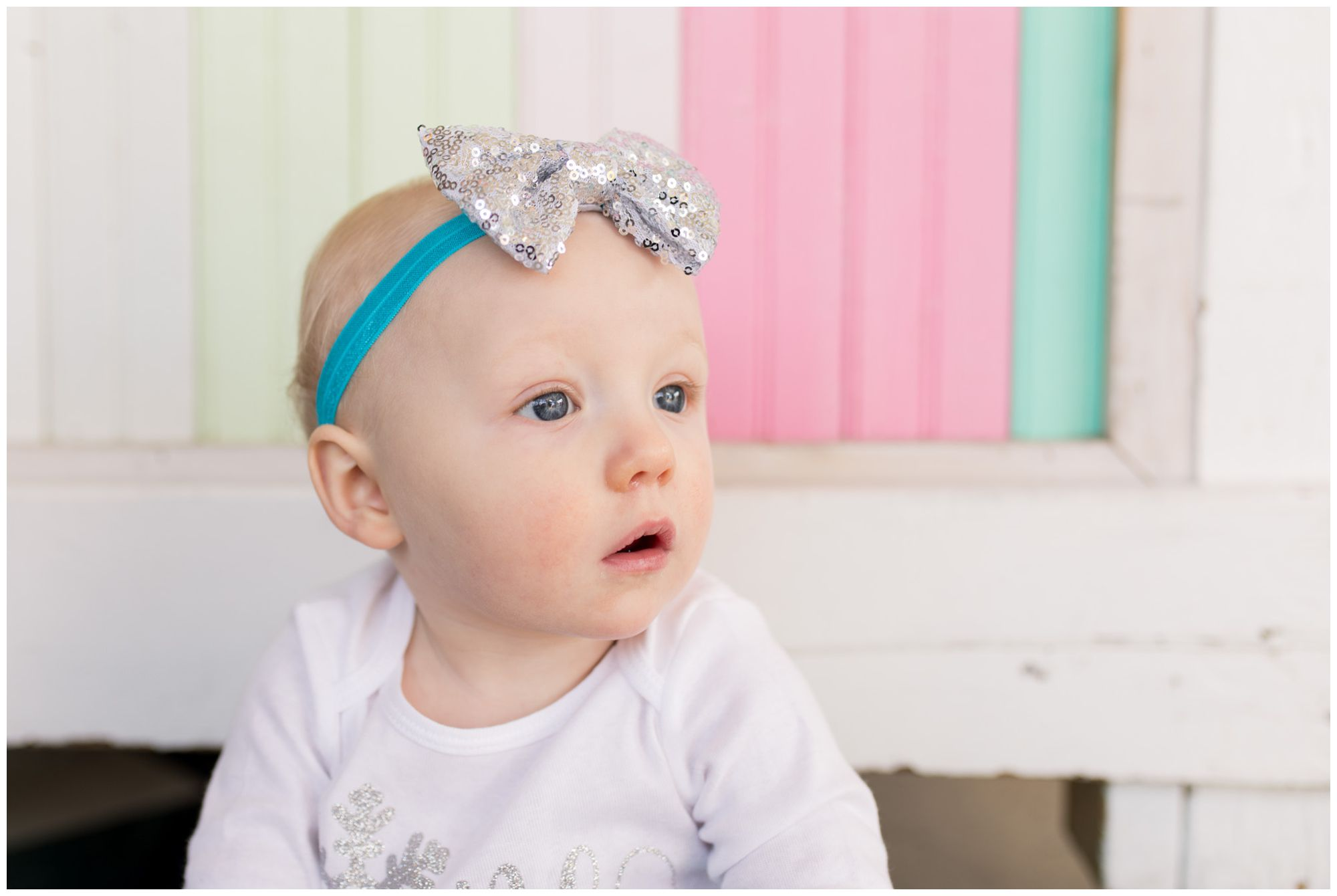 baby first year session at The Flying Cupcake in Carmel Indiana