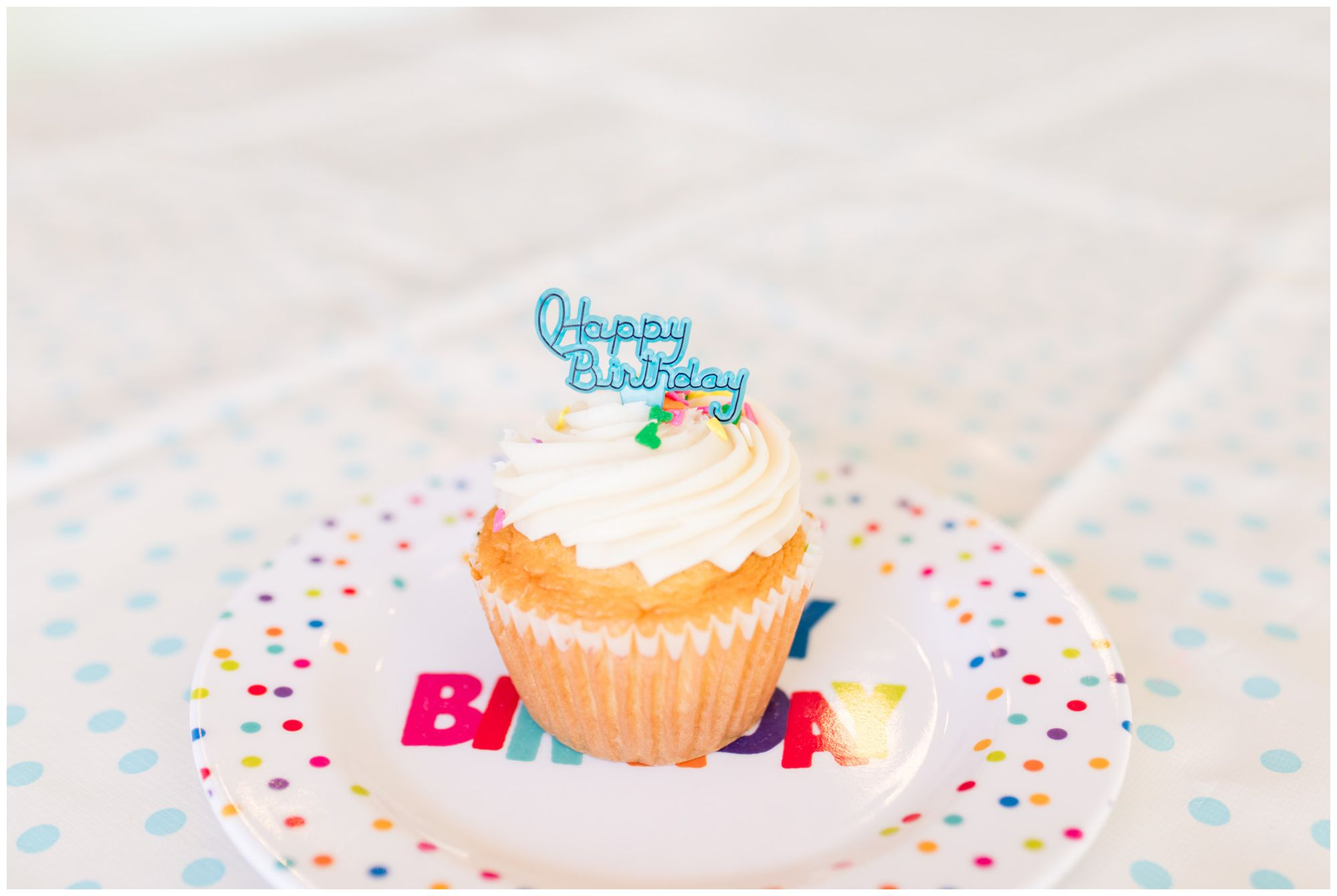 Happy Birthday to You cupcake at The Flying Cupcake in Carmel Indiana