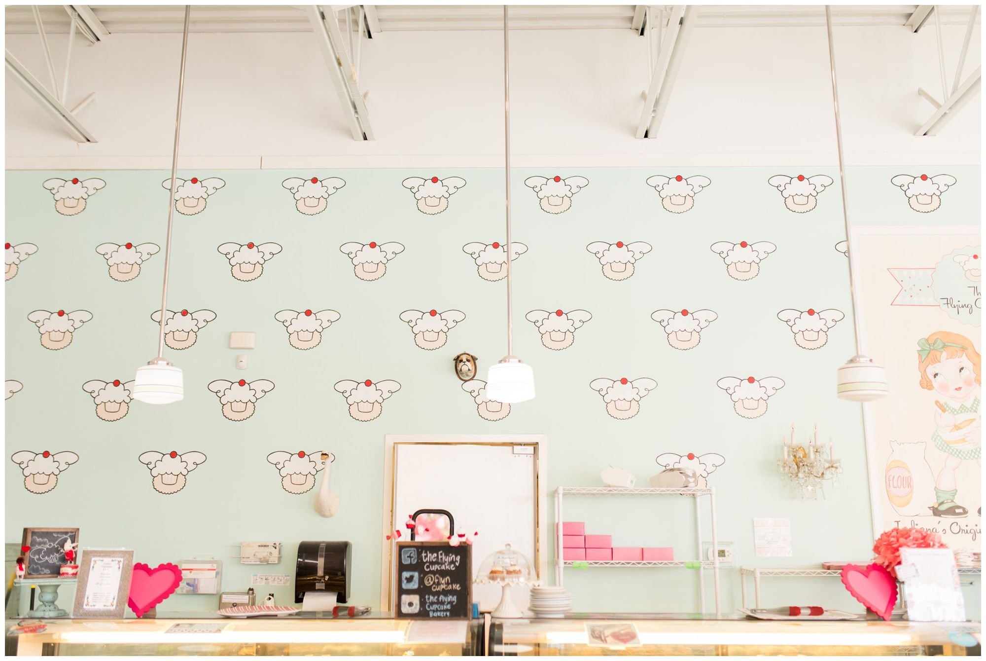 interior of The Flying Cupcake in Carmel Indiana