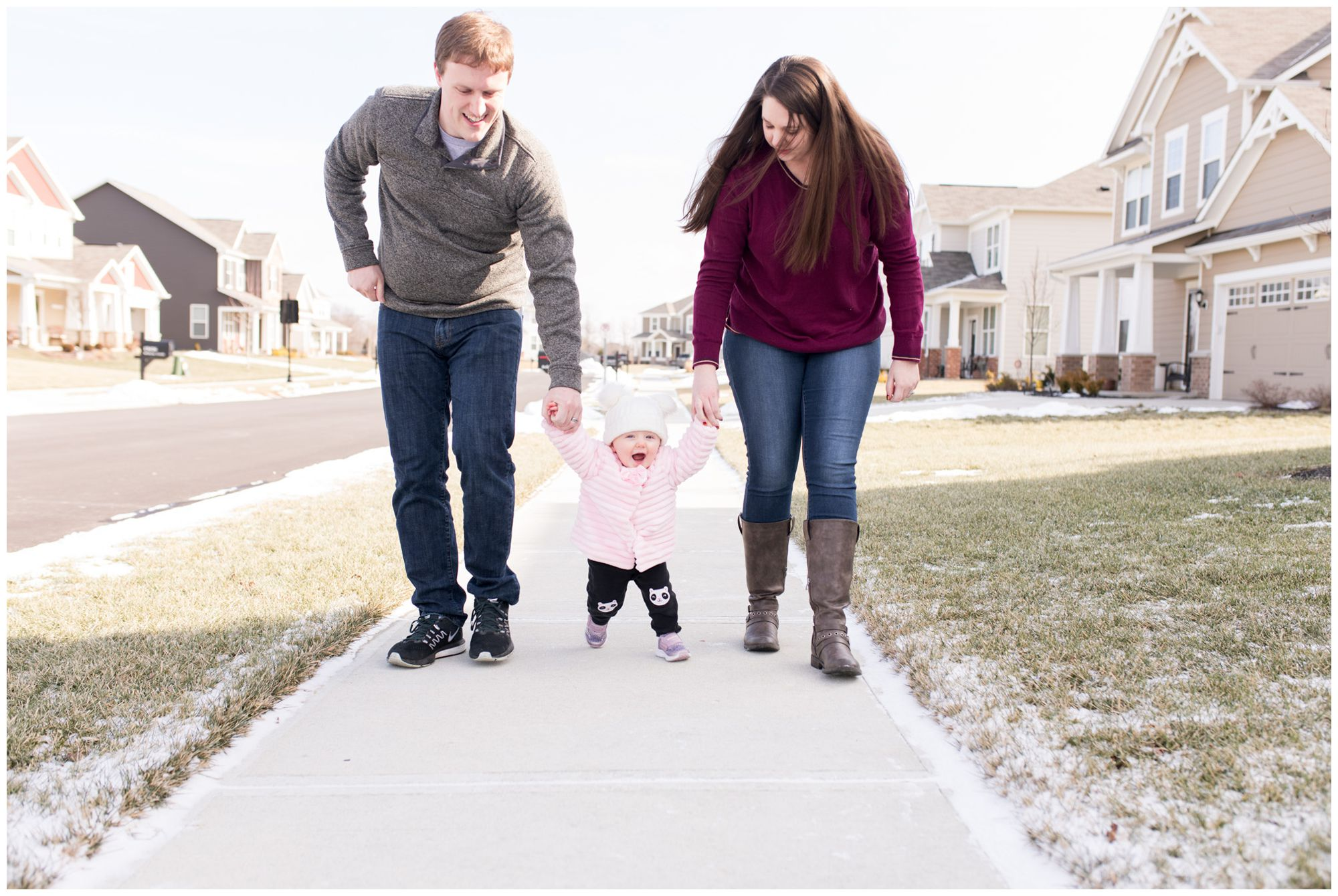 first birthday in home lifestyle session in Indianapolis