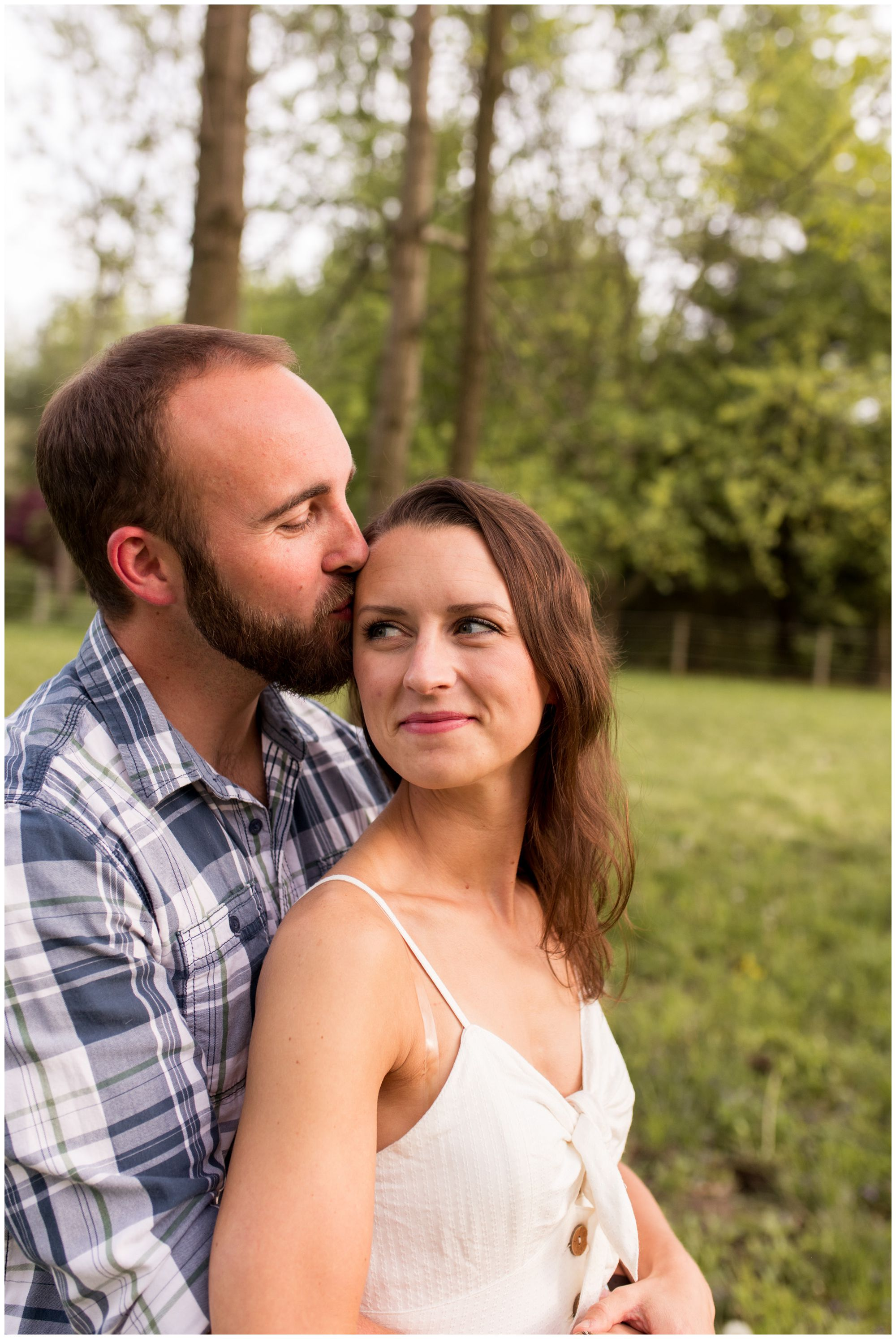 Indianapolis engagement session in horse pasture