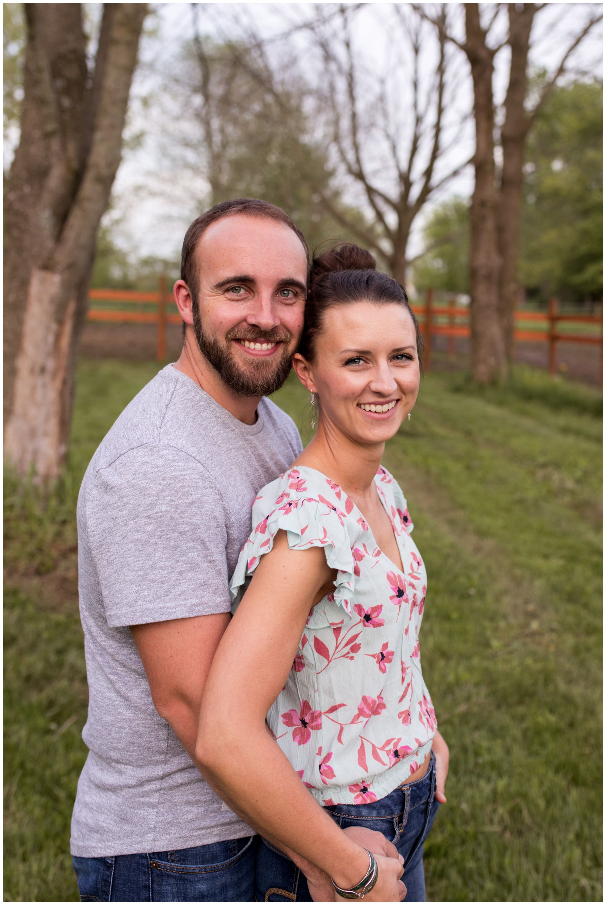 bride and groom engagement session in Indianapolis