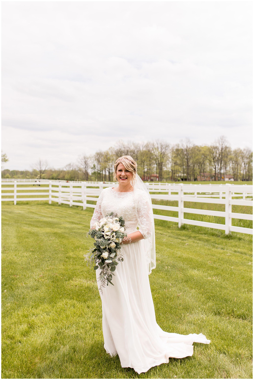 bridal portraits before Muncie Indiana wedding