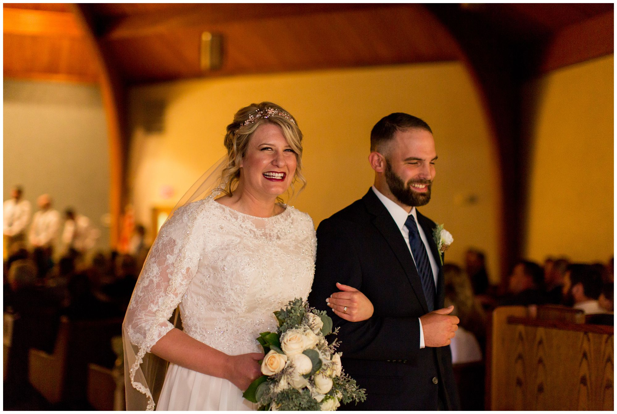 wedding ceremony at Muncie First Church of the Nazarene