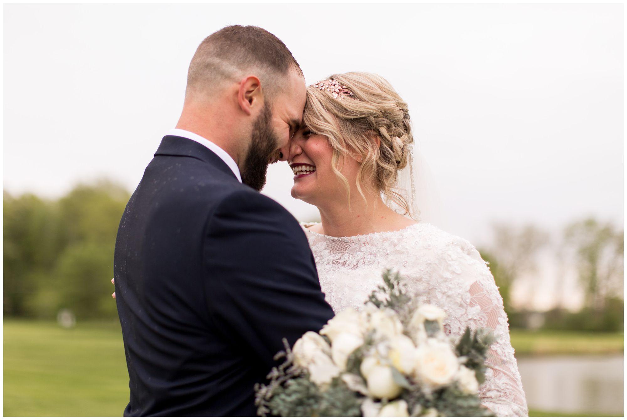 bride and groom wedding photos in Muncie Indiana