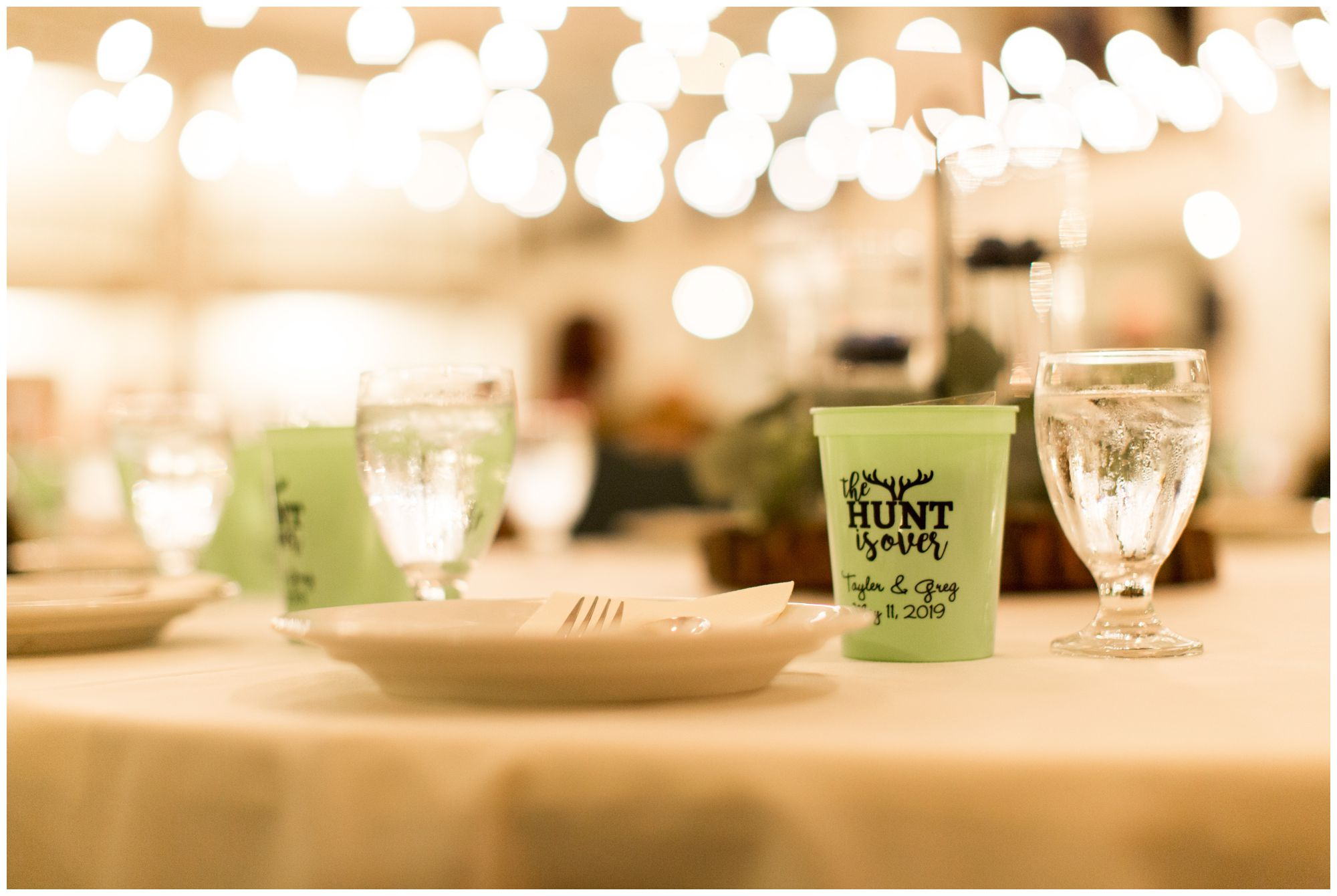 Cornerstone Center for the Arts wedding reception table decor