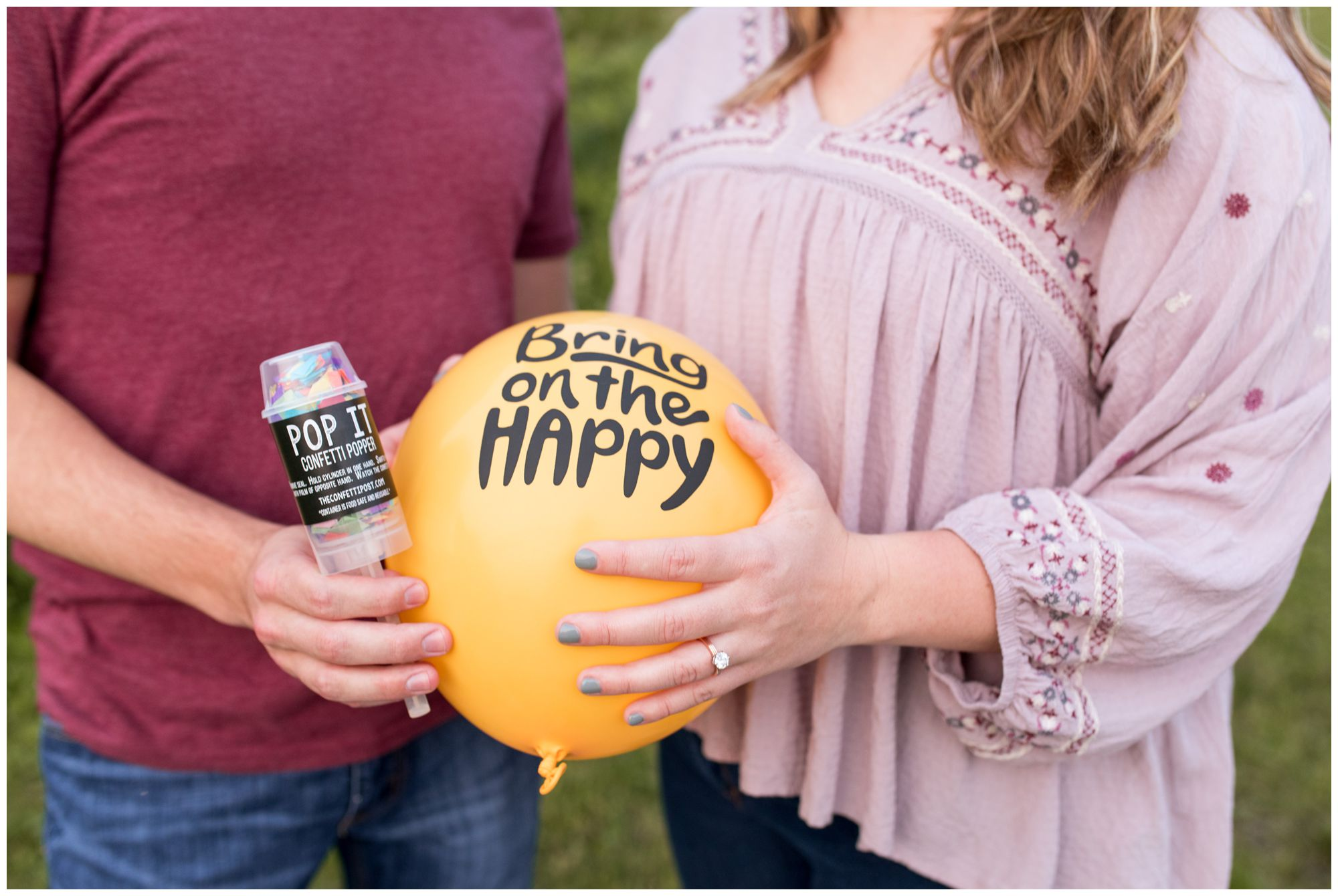 The Confetti Post engagement session in Lafayette Indiana