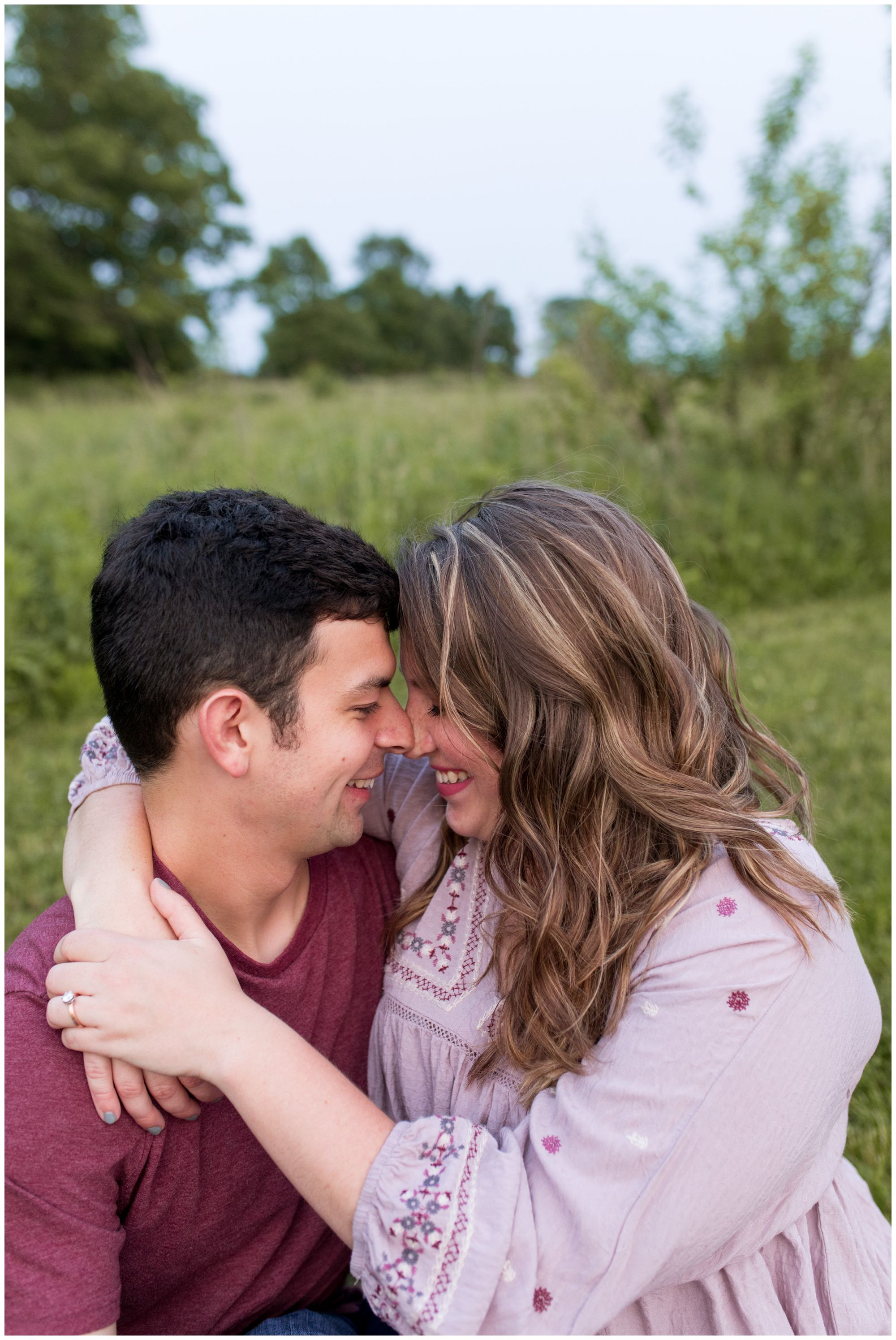 Lafayette engagement session photographer at Prophetstown State Park