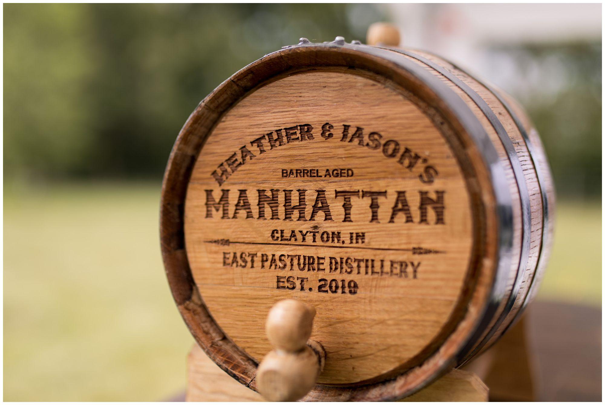 handcrafted manhattan barrel for Indianapolis wedding