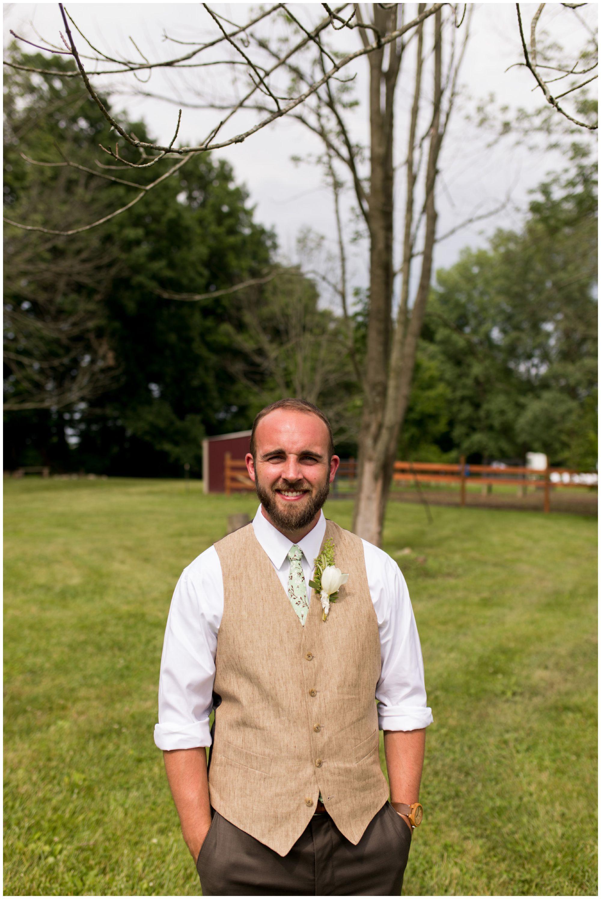 groom portraits for Indianapolis wedding photography