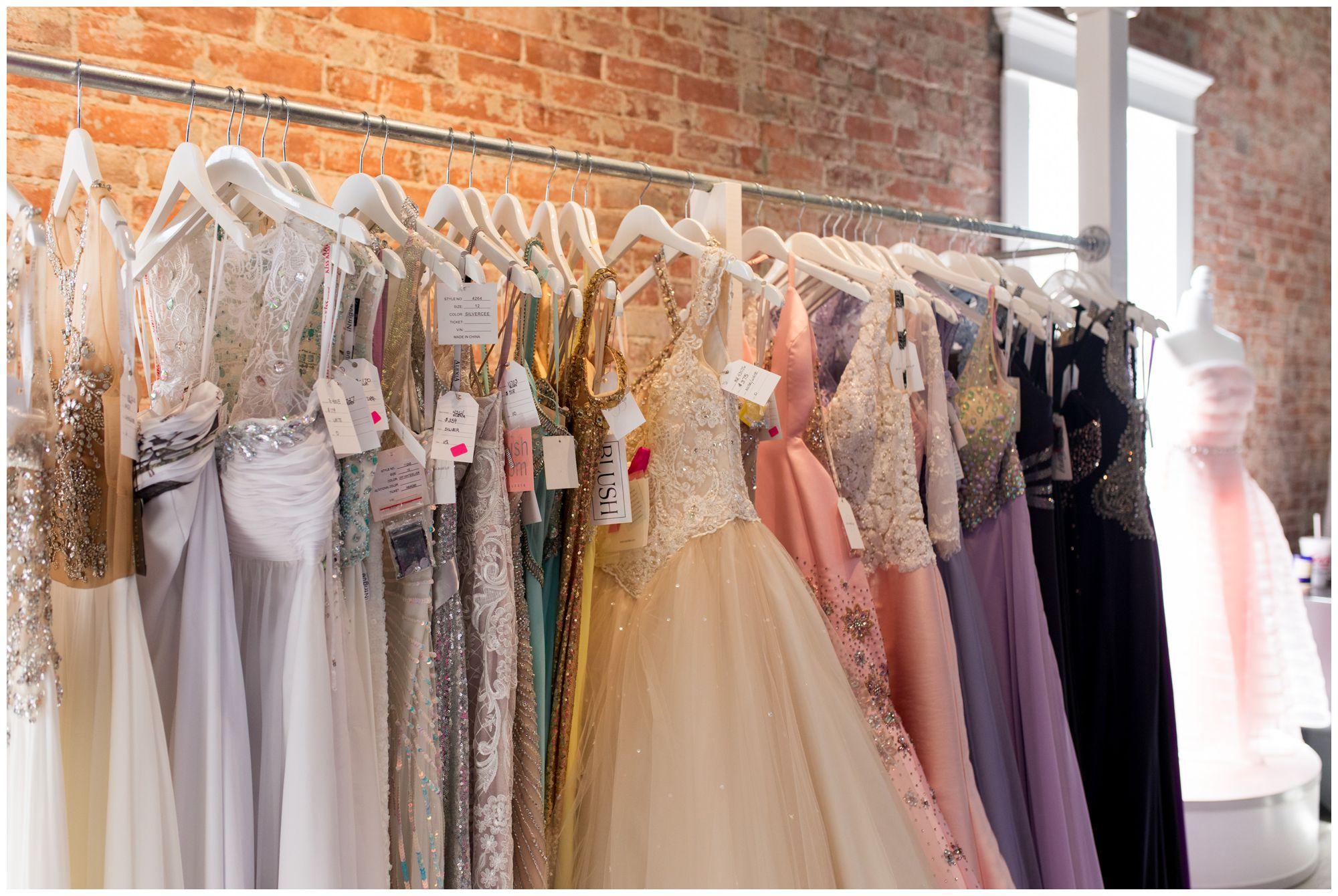 prom and formal dresses at Blye's Bridal Loft in Kokomo Indiana