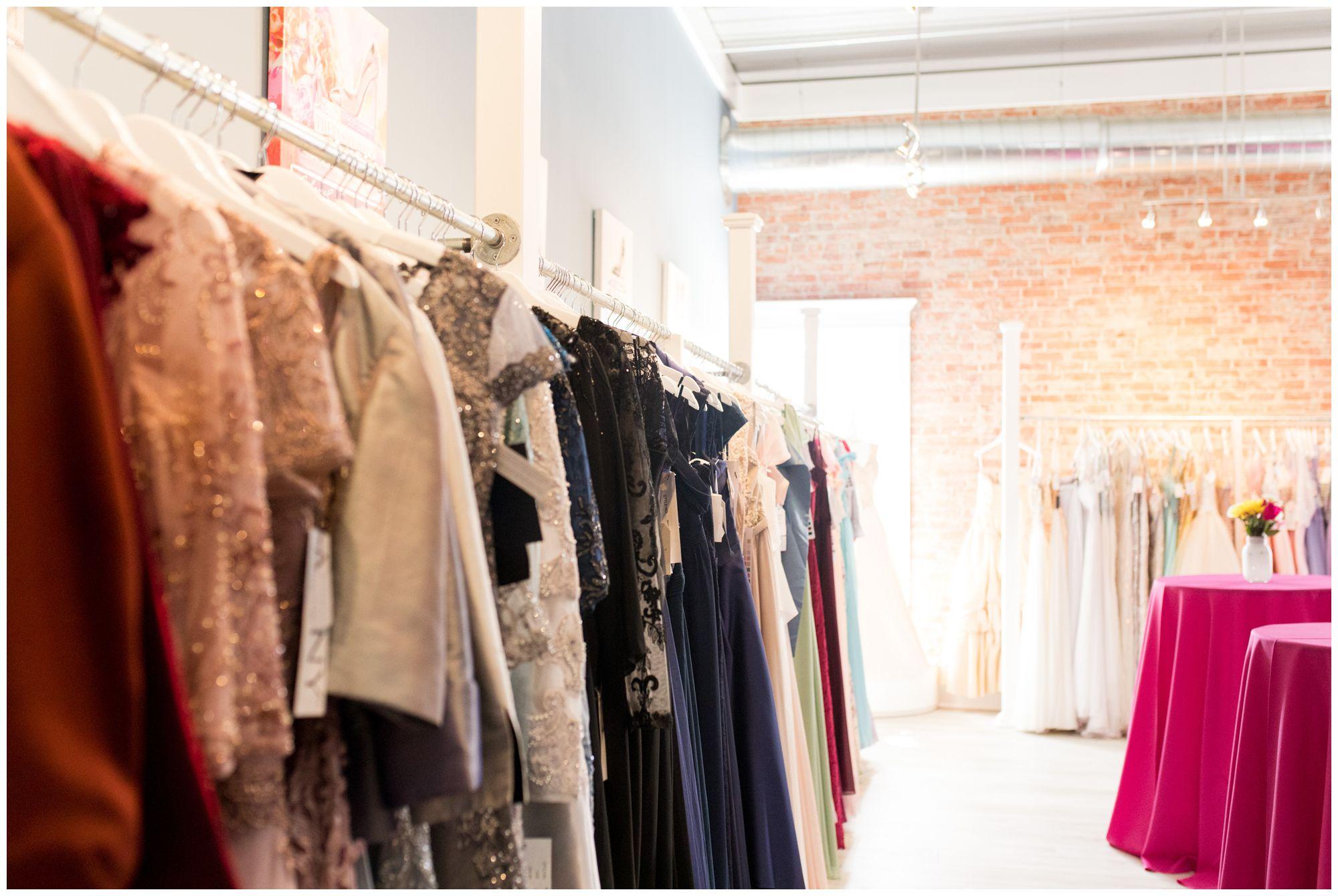 dress inventory at Blye's Bridal in Kokomo Indiana