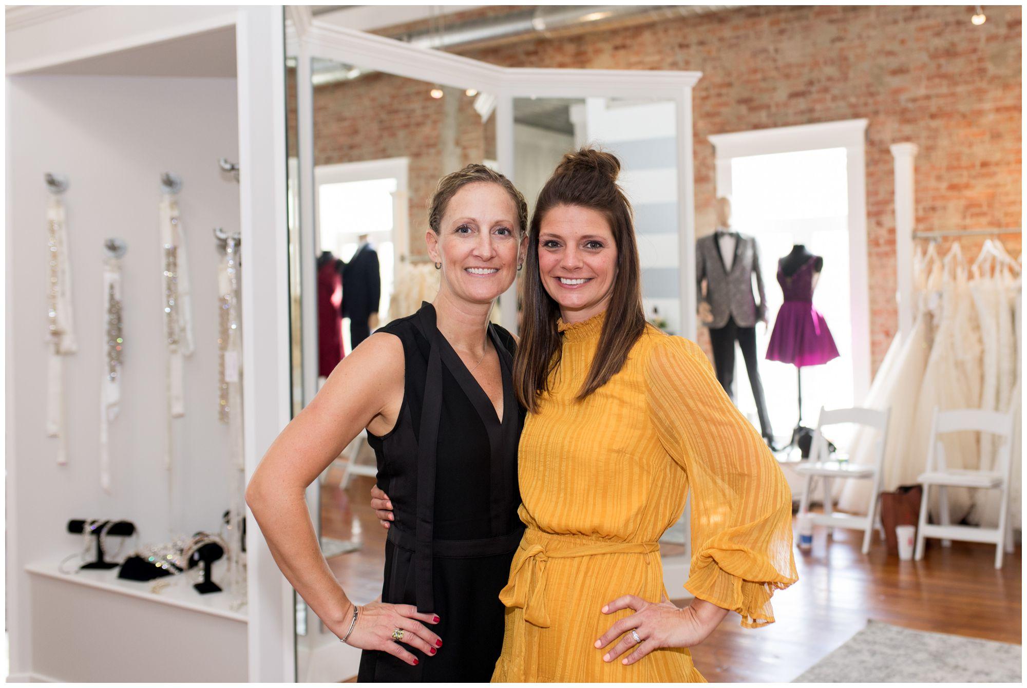 Blye's Bridal Loft owner Laura O'Donnell and manager Allison Crim
