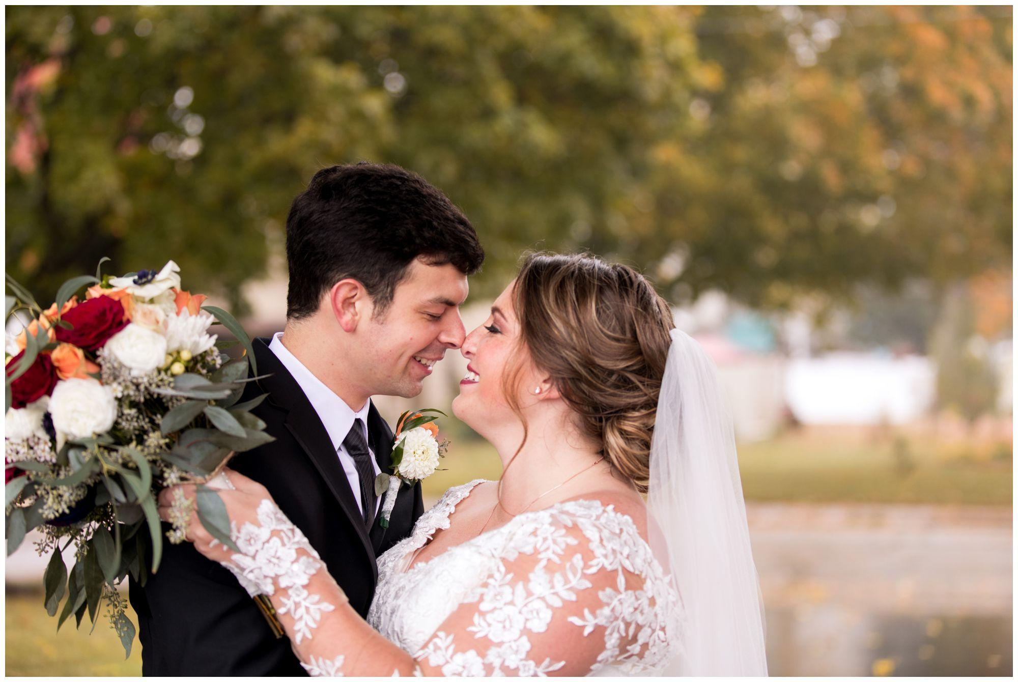 bride and groom wedding photos in Decatur Indiana