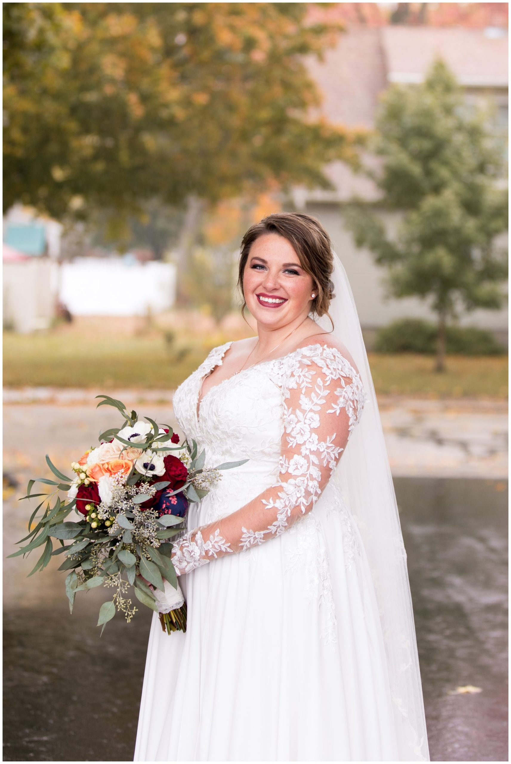 bride wedding portraits in Decatur, Indiana