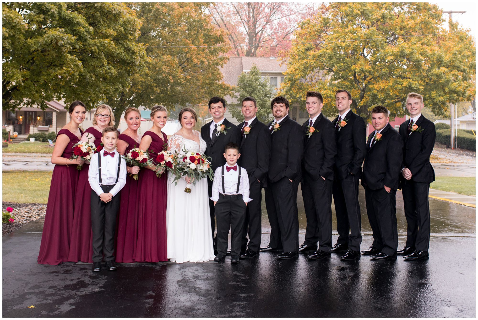 wedding party at Zion Lutheran Church in Decatur Indiana