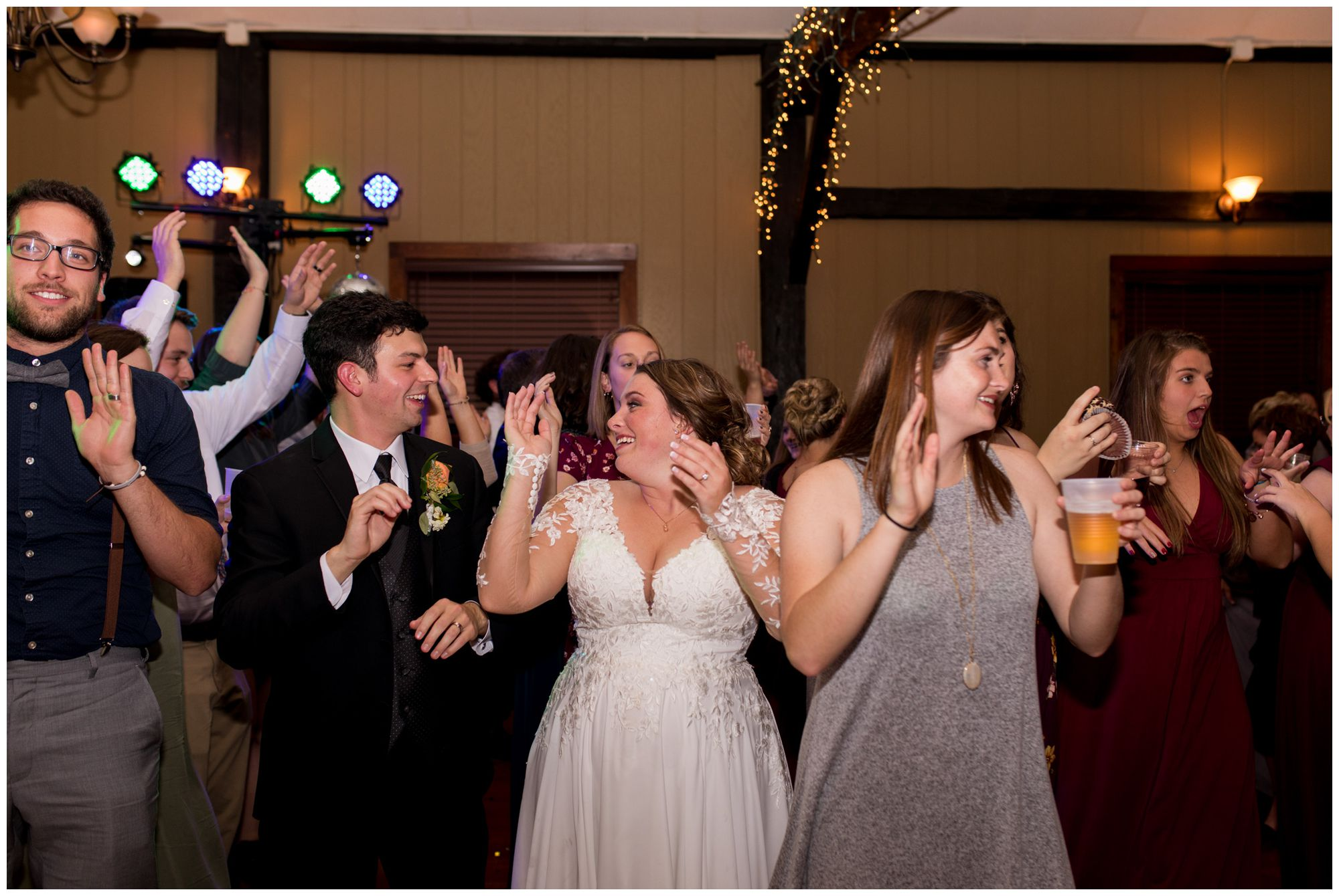 bride and groom dance during Goeglein Homestead reception