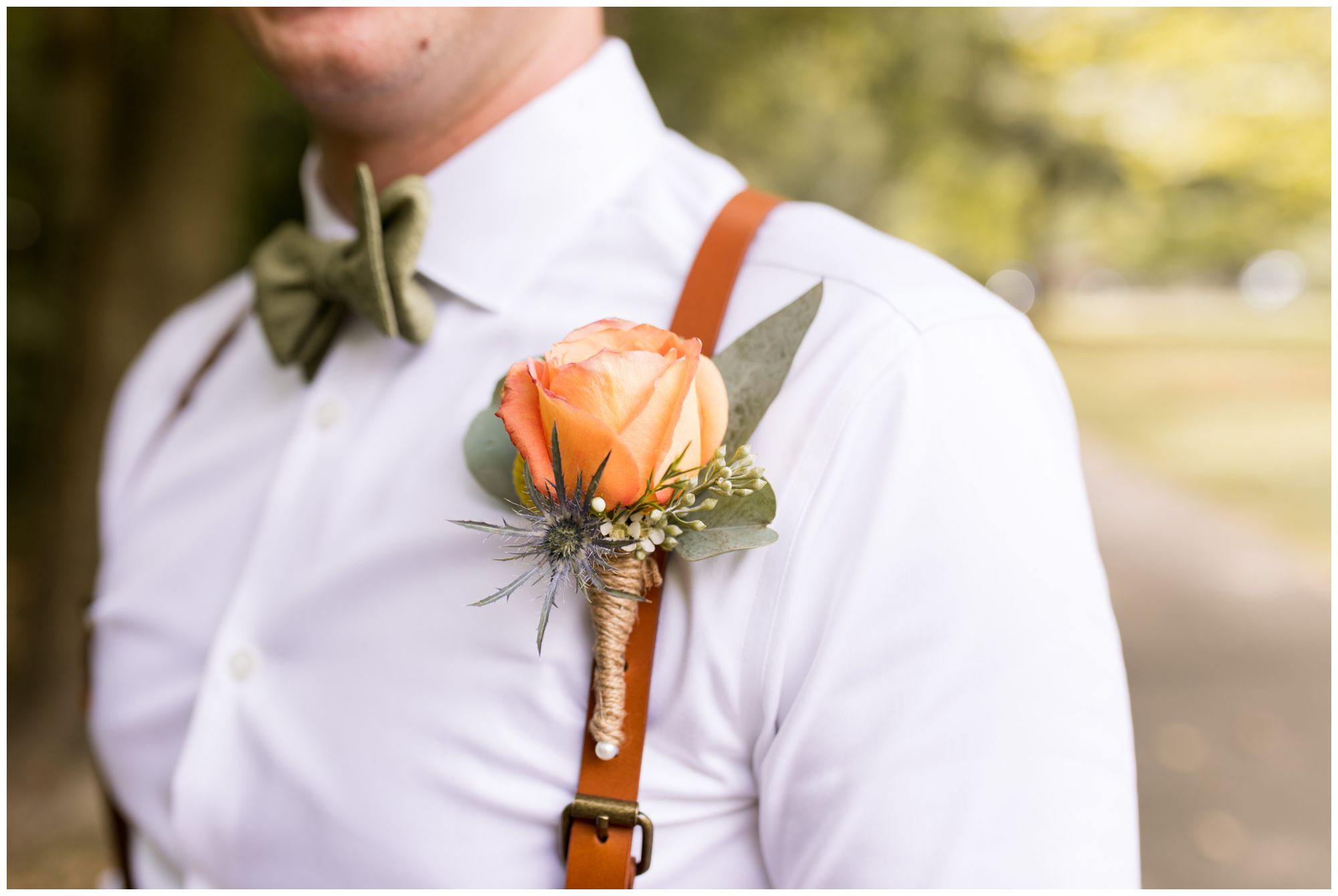 groom's boutonniere from Ayers Flowers in Indianapolis