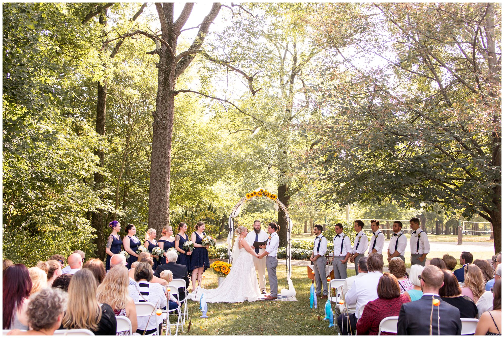 Forest Park Inn wedding ceremony in Noblesville Indiana