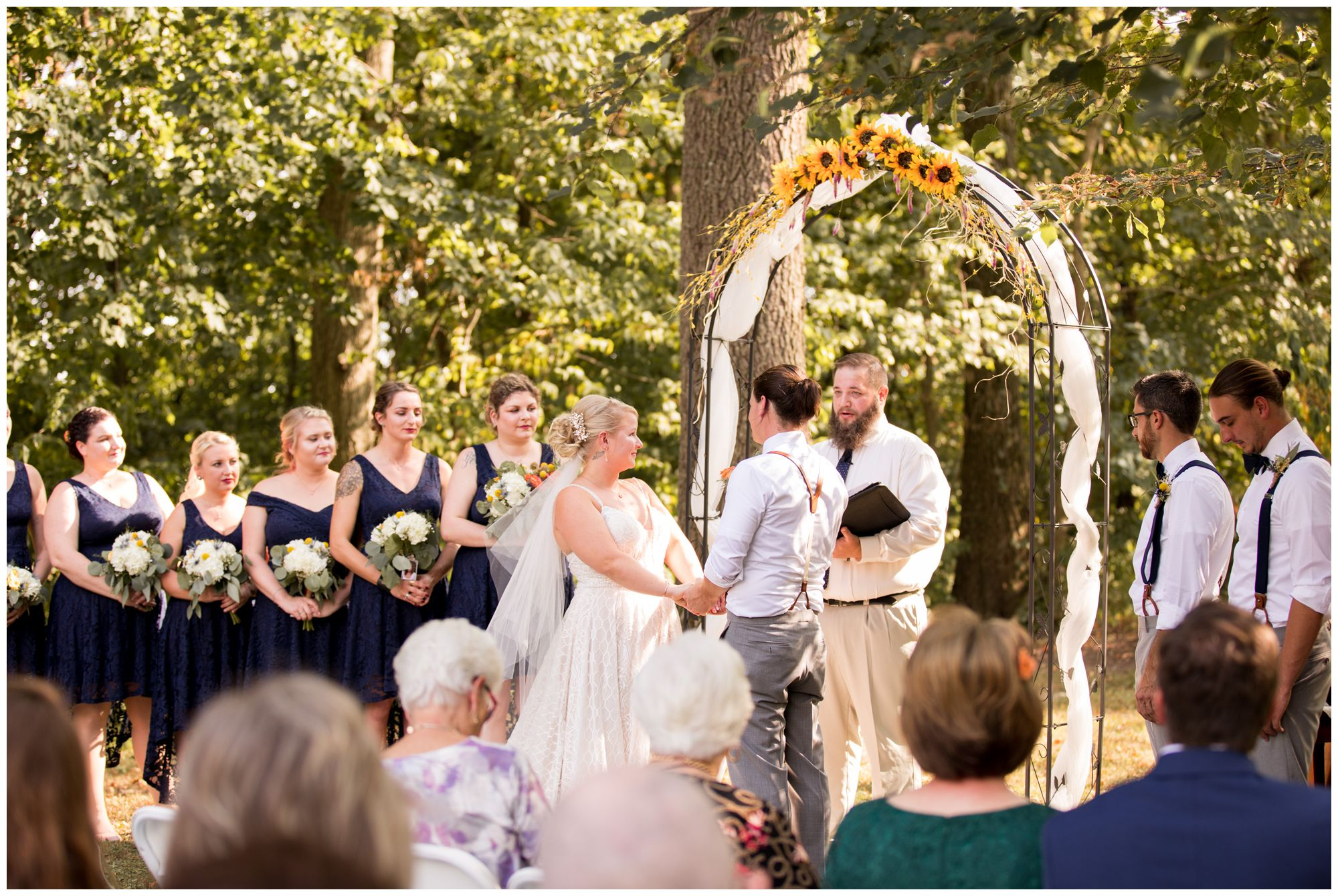 outdoor ceremony at Forest Park Inn in Noblesville Indiana