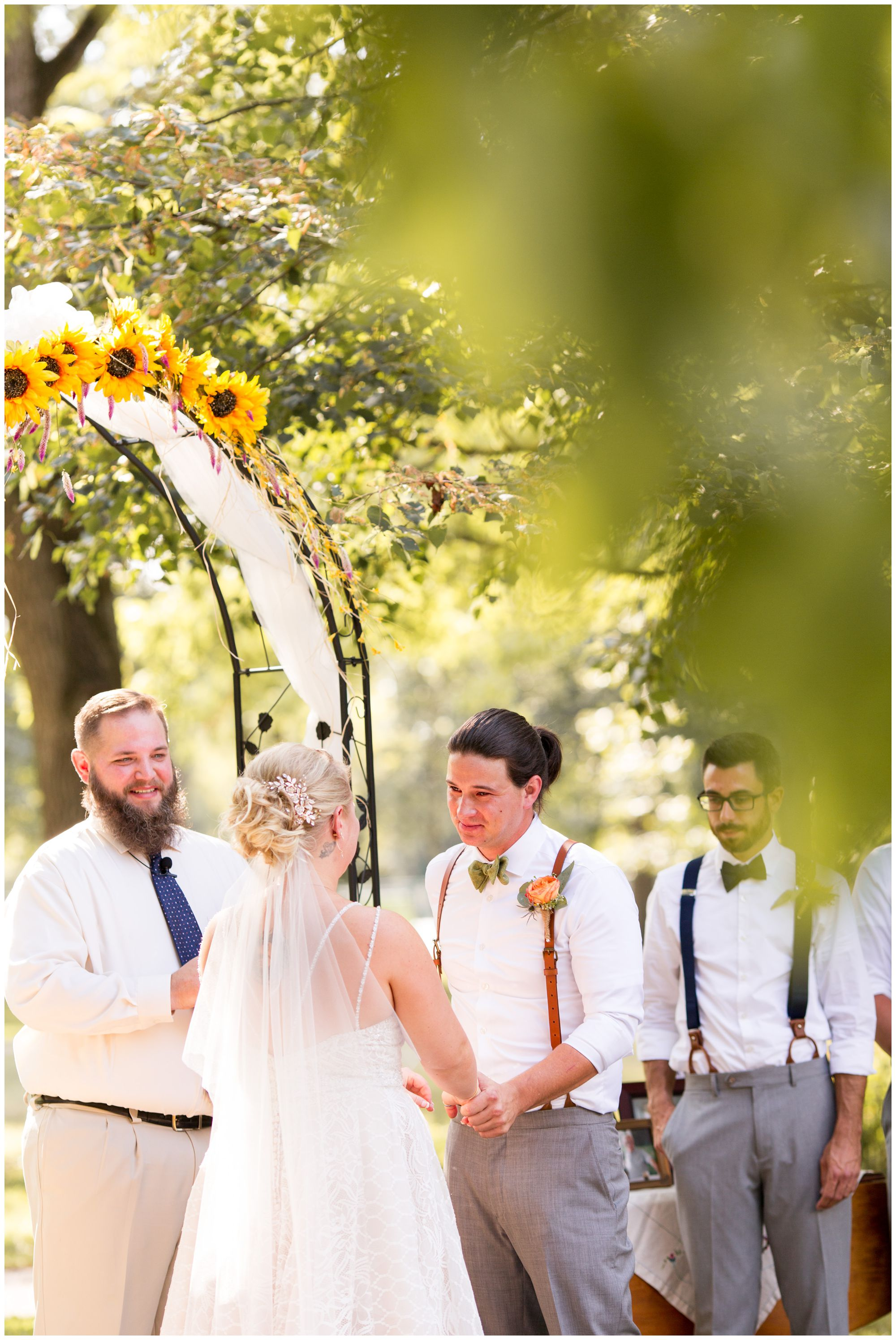 Forest Park Inn wedding ceremony