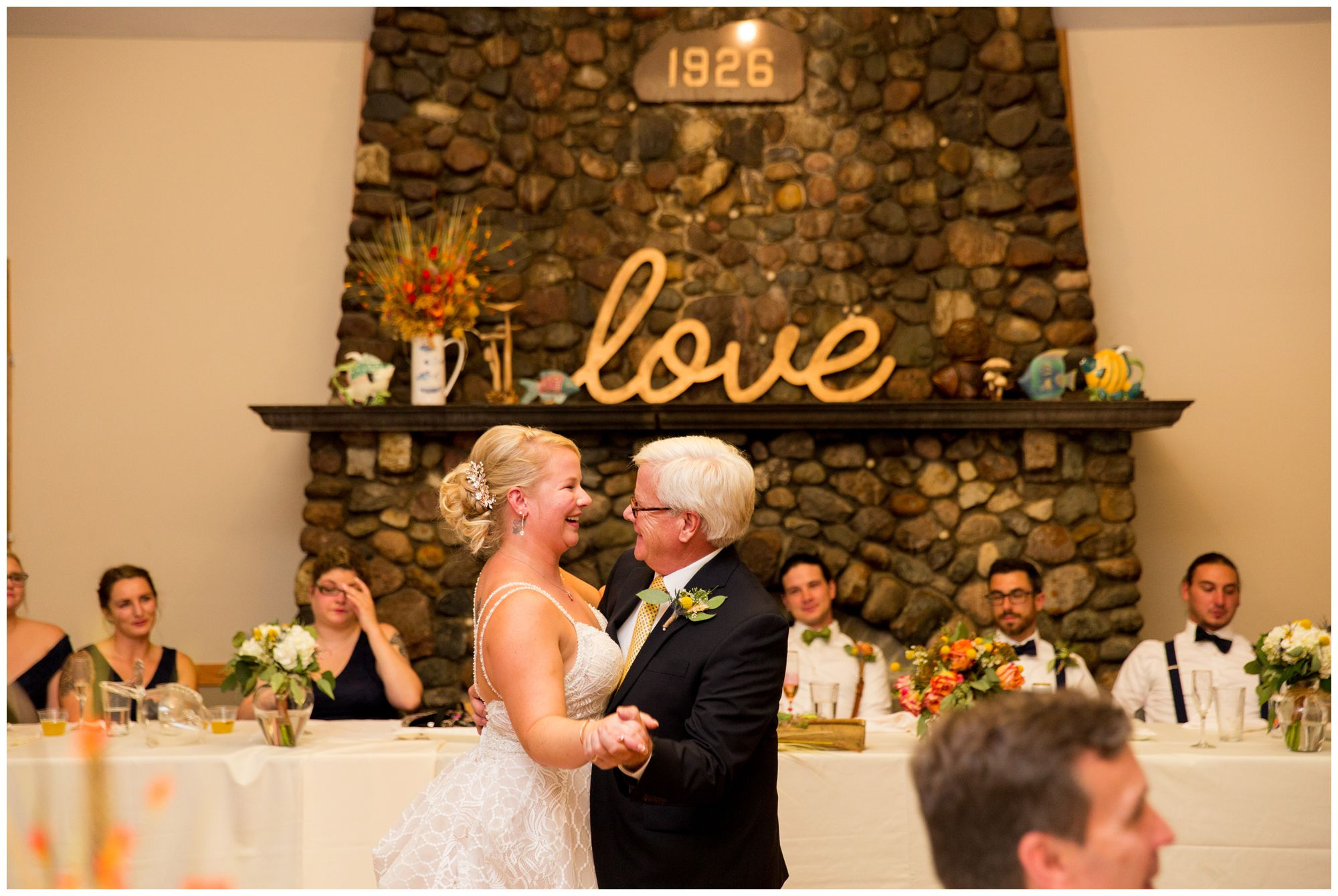 bride and father dance during Forest Park Inn reception