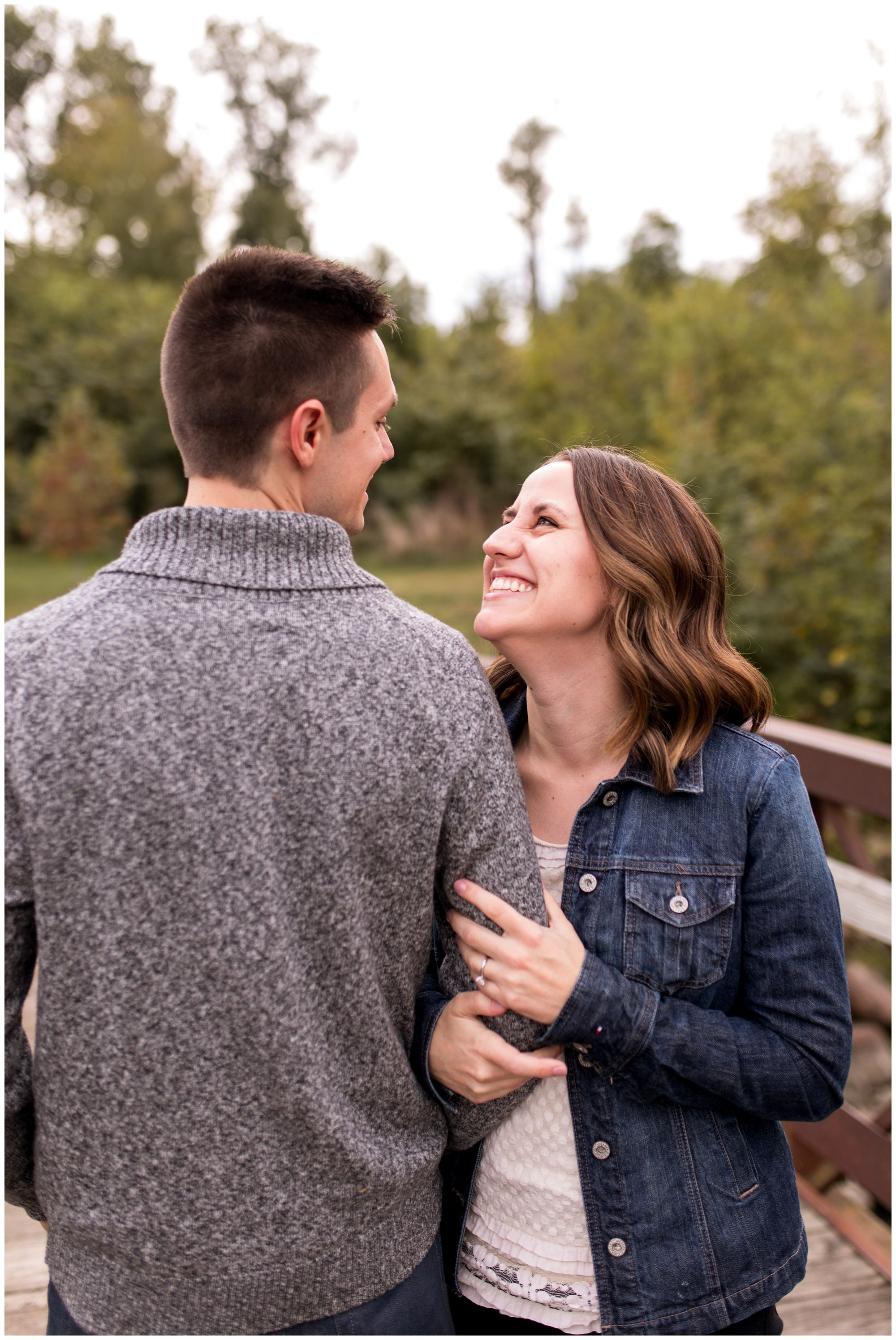 bride and groom engagement session Kokomo Indiana