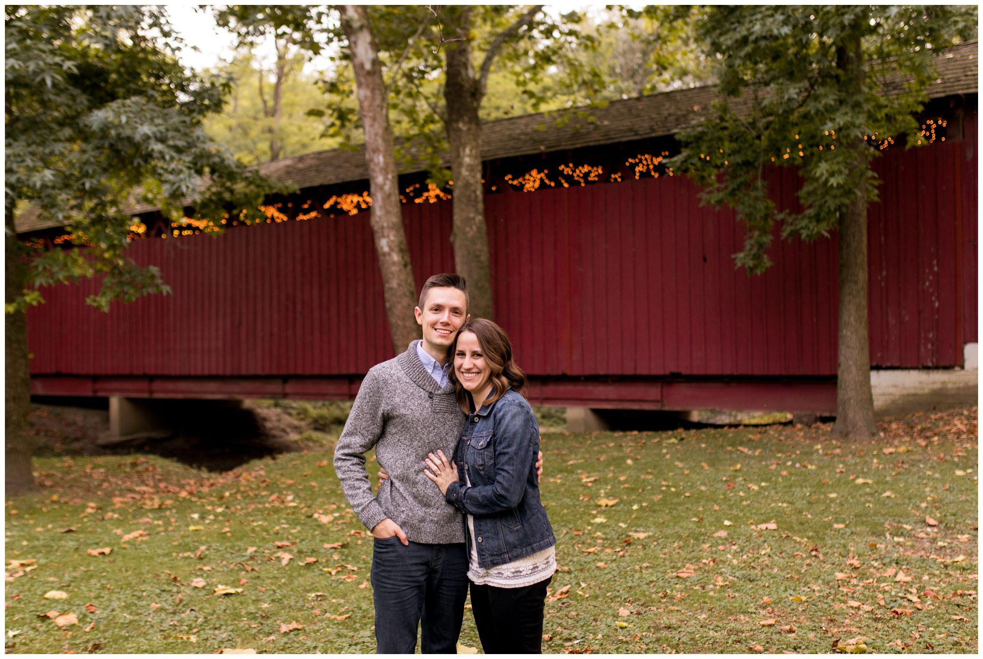 Kokomo Indiana engagement session at Highland Park