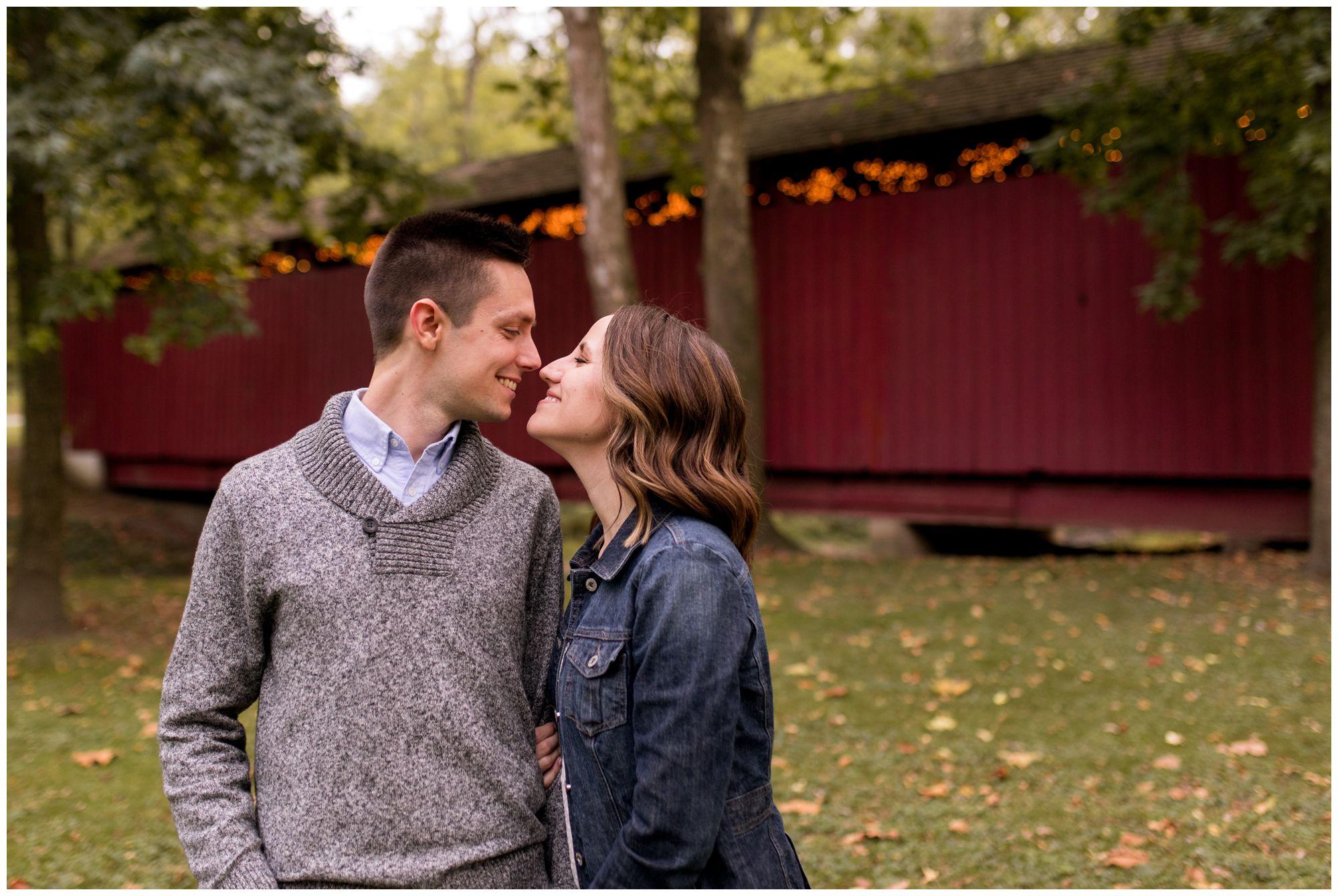 Highland Park engagement session in Kokomo Indiana