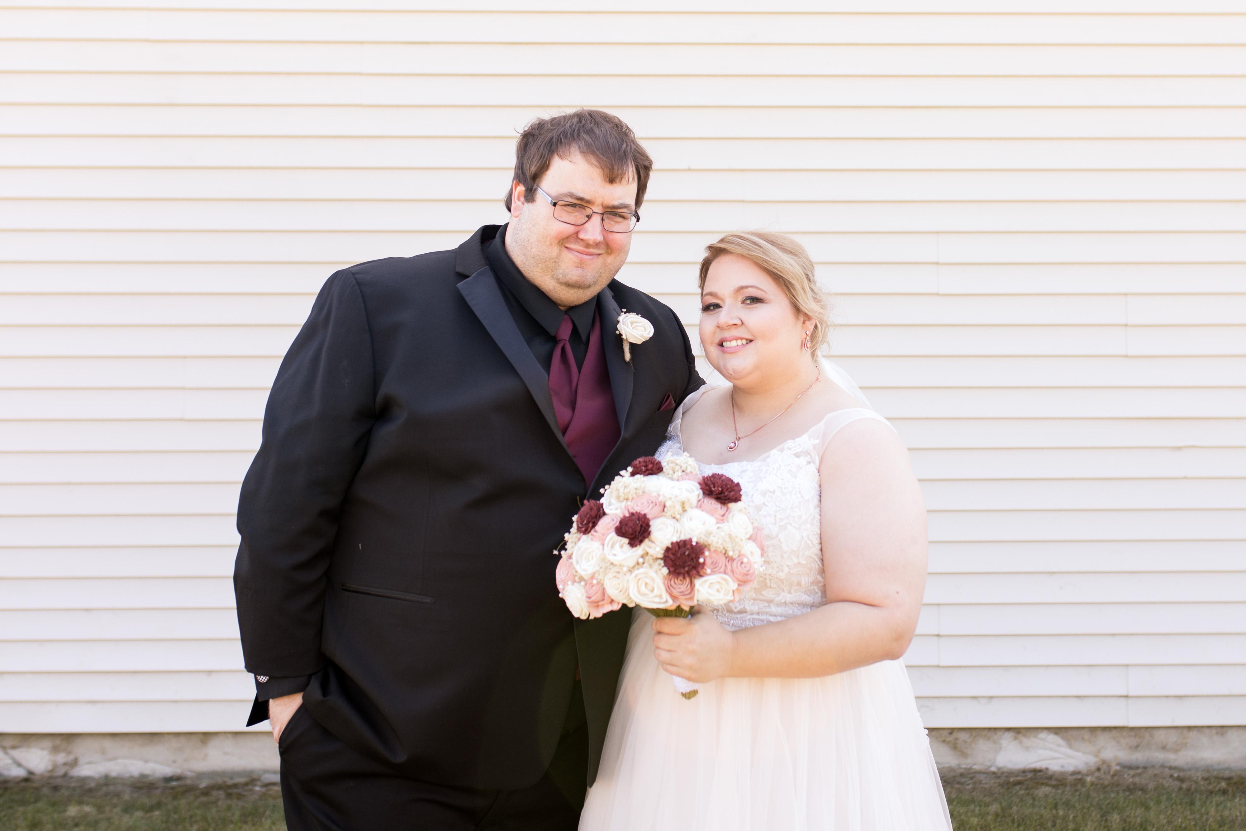 bride and groom Kokomo Indiana wedding