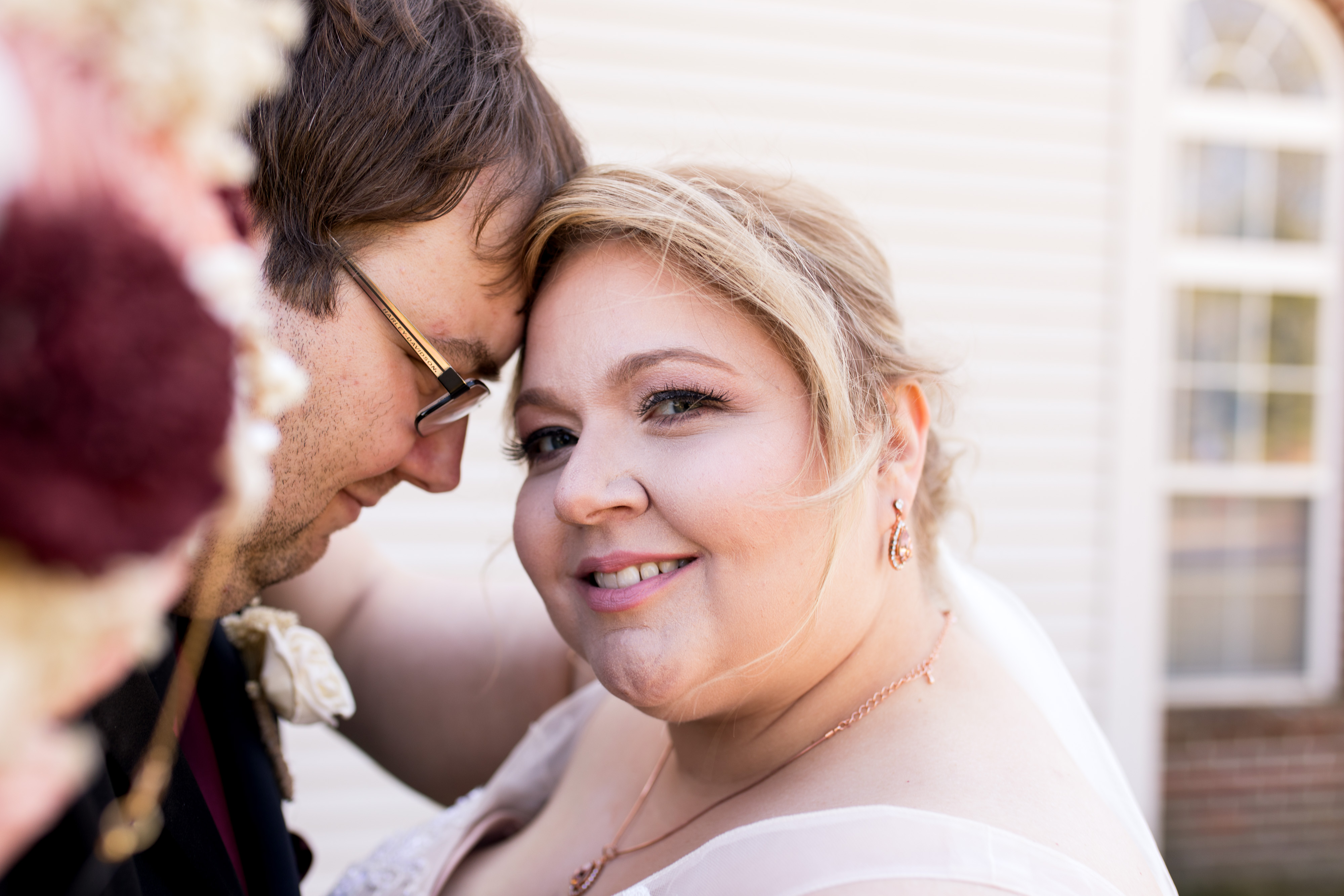 bride and groom wedding photos before Kokomo wedding ceremony