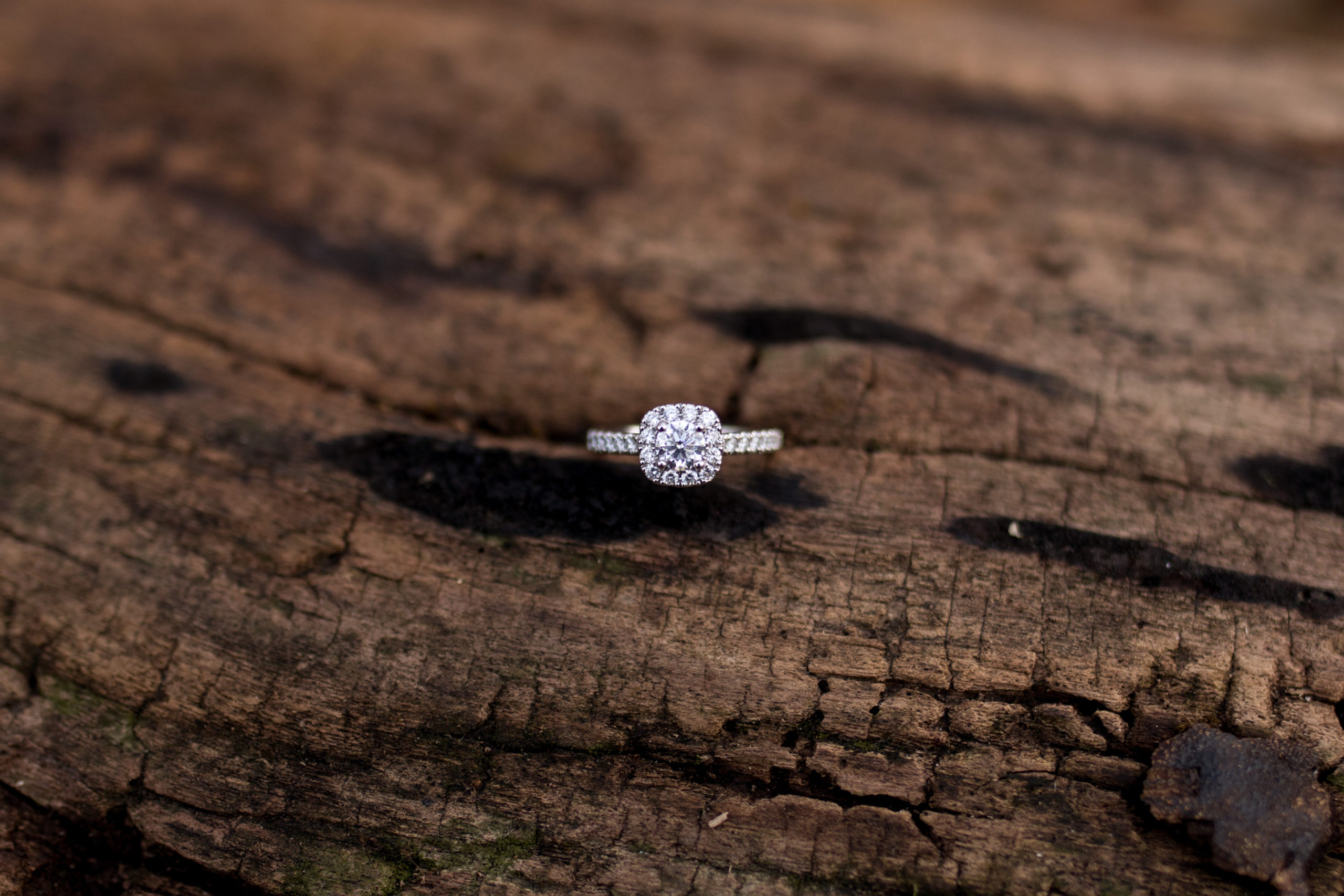 bride's engagement ring from Diamonds Direct