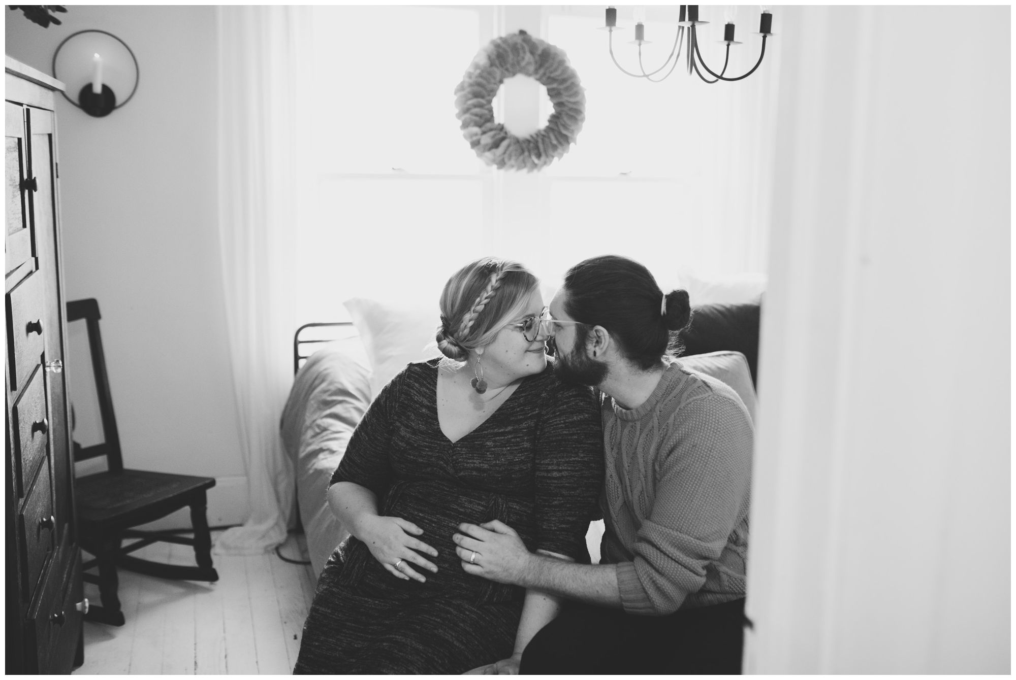 in-home maternity session in Indianapolis