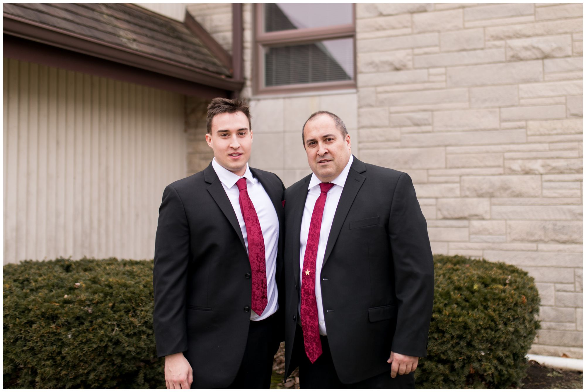 groom with son at Zion Lutheran Church in Portland Indiana