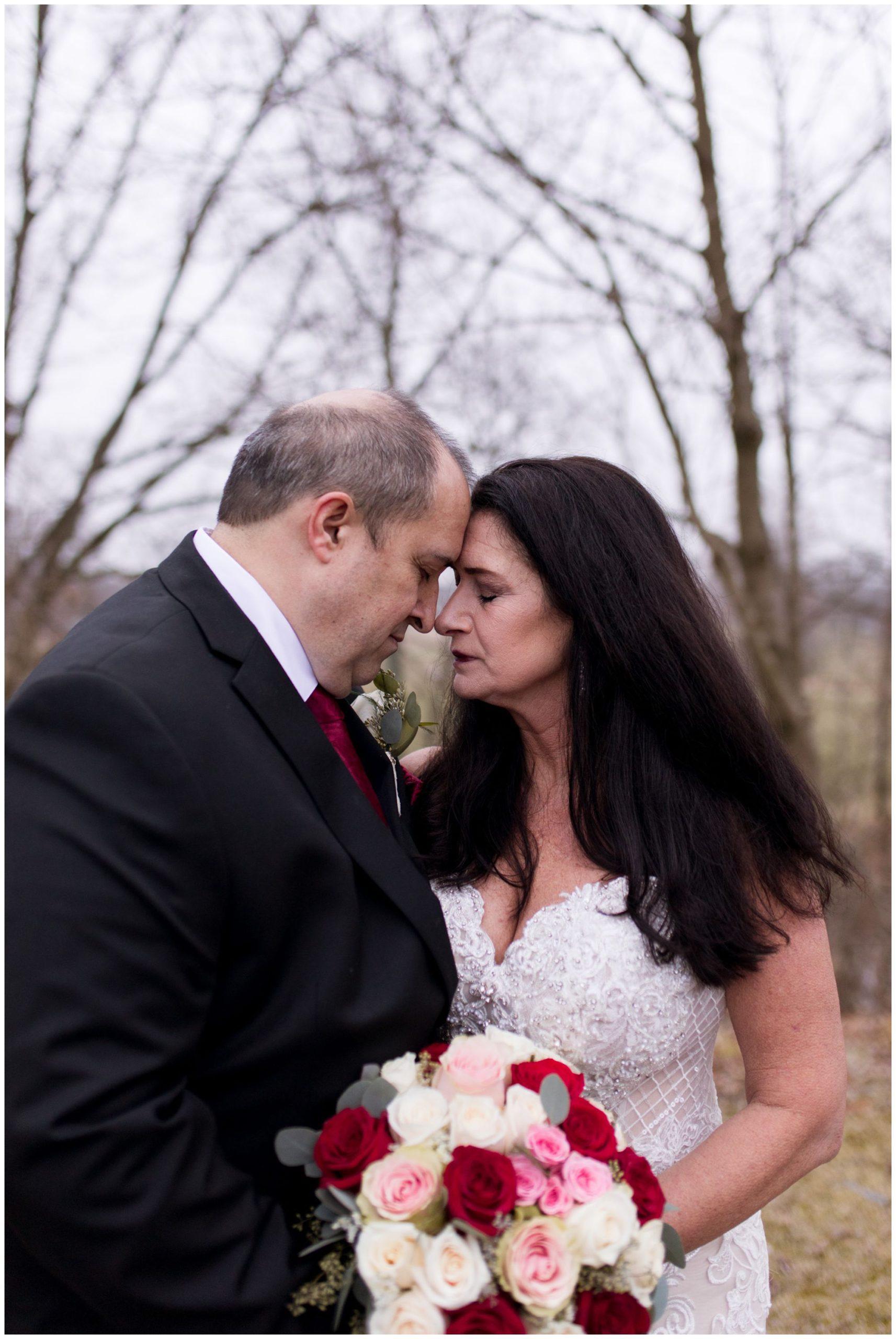 bride and groom portraits at Portland Golf Club in Portland Indiana