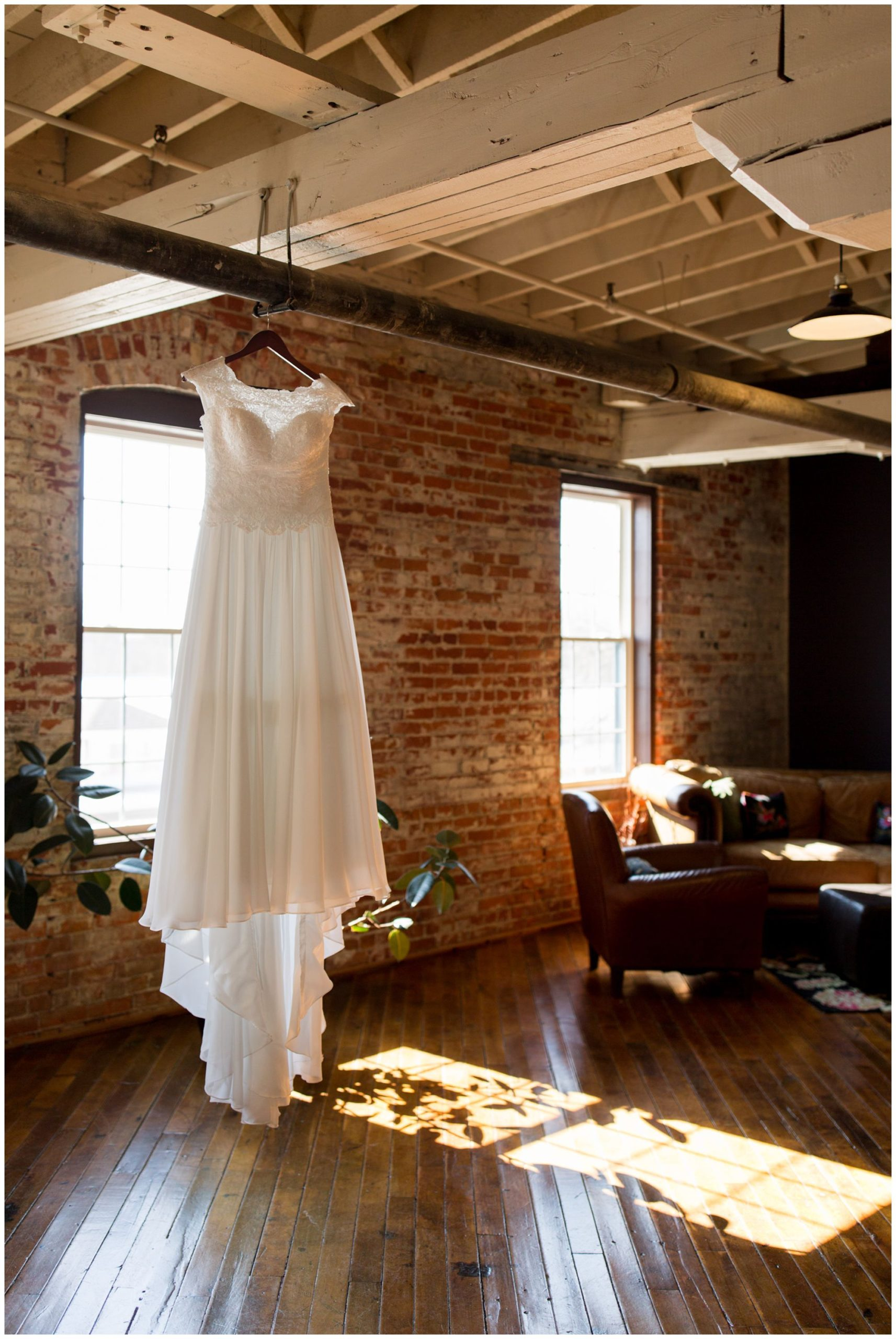 bride's dress on third floor at
