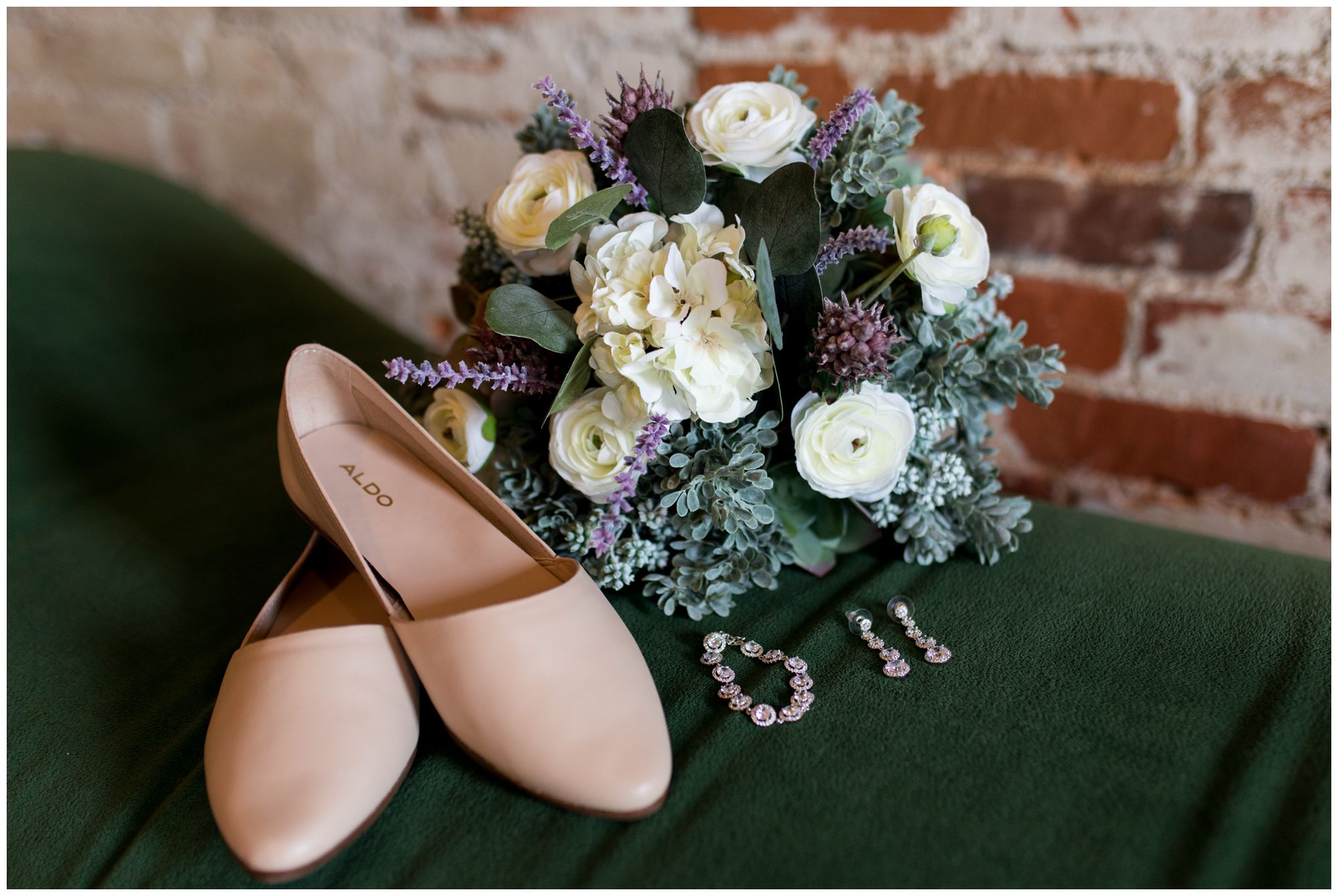 bridal details at Goshen's Bread and Chocolate venue